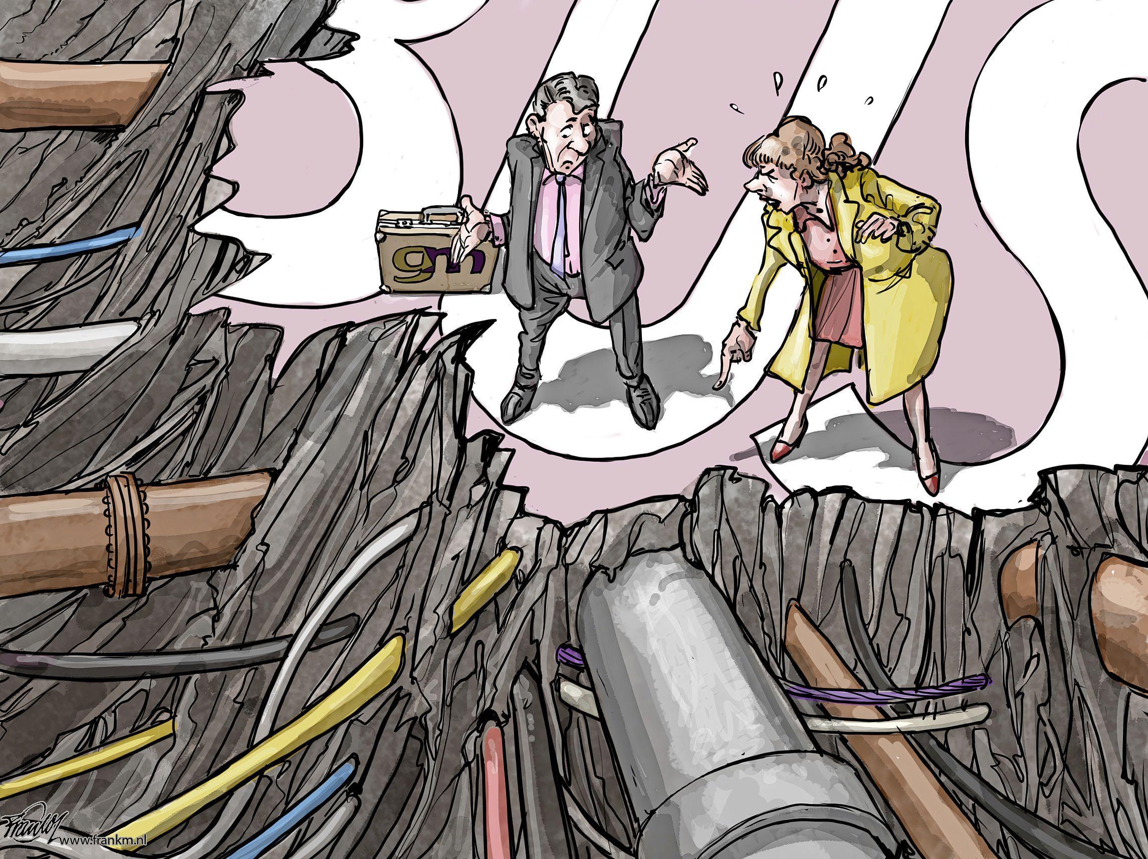 De geheime ondergrondse wereld in Bussum | cartoon Frank Muntjewerf