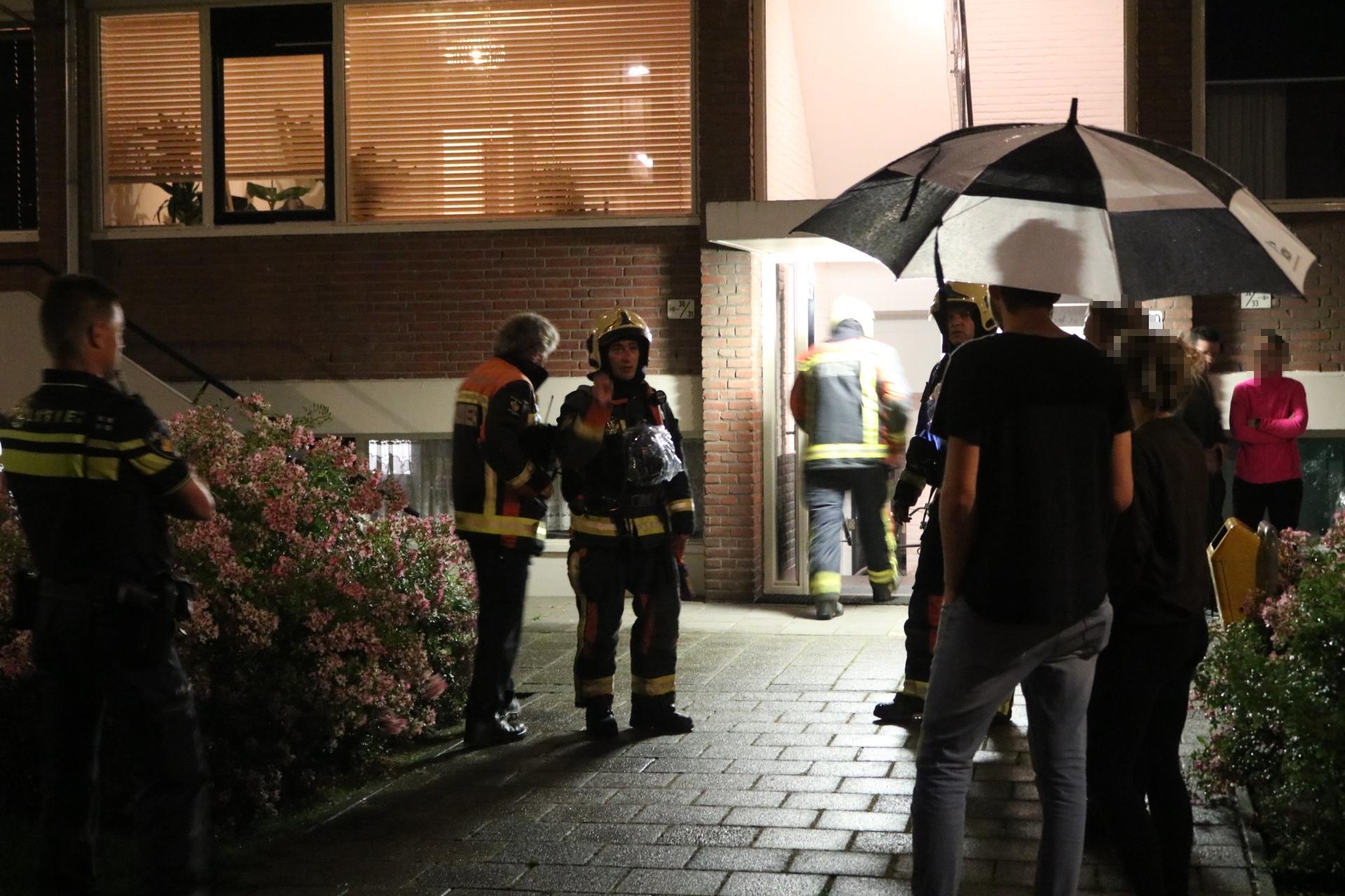 Bewoners op straat na melding van gaslek in flat Katwijk