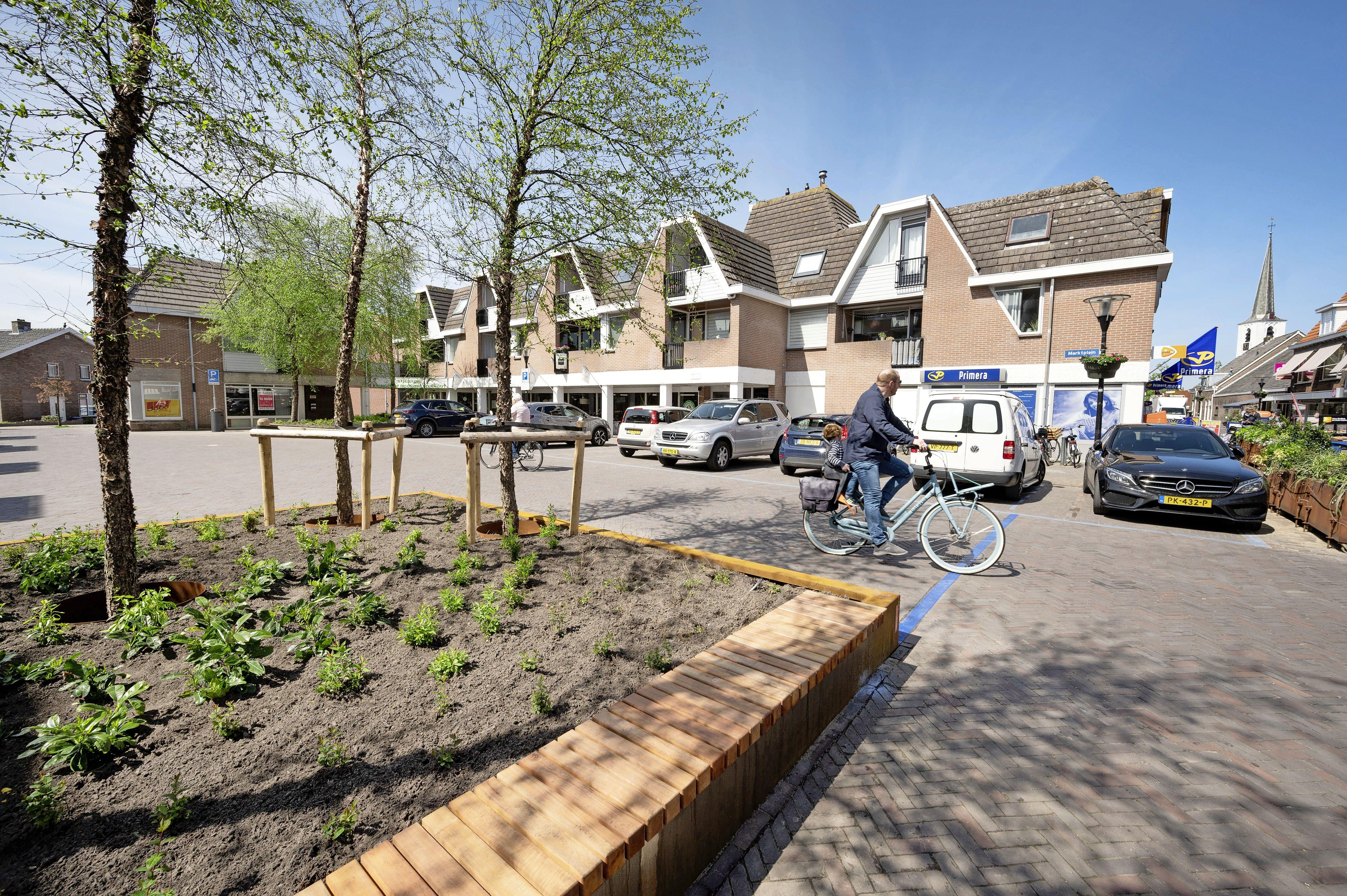 Marktplein groener gemaakt: opknapbeurt centrum Noordwijkerhout vordert gestaag
