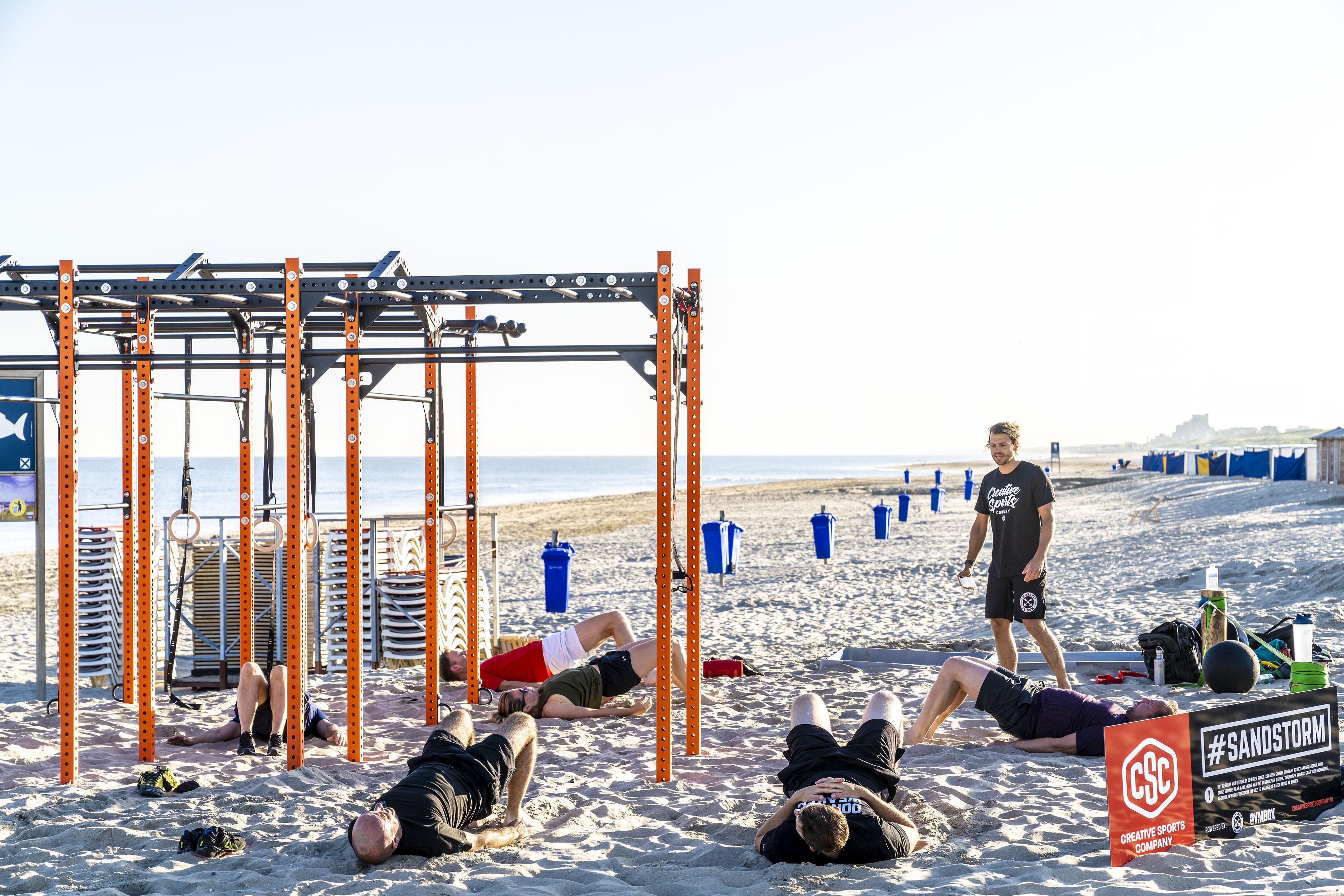 Sporten in Katwijk met een decor van zee en zand: 'Het geeft heel veel energie'