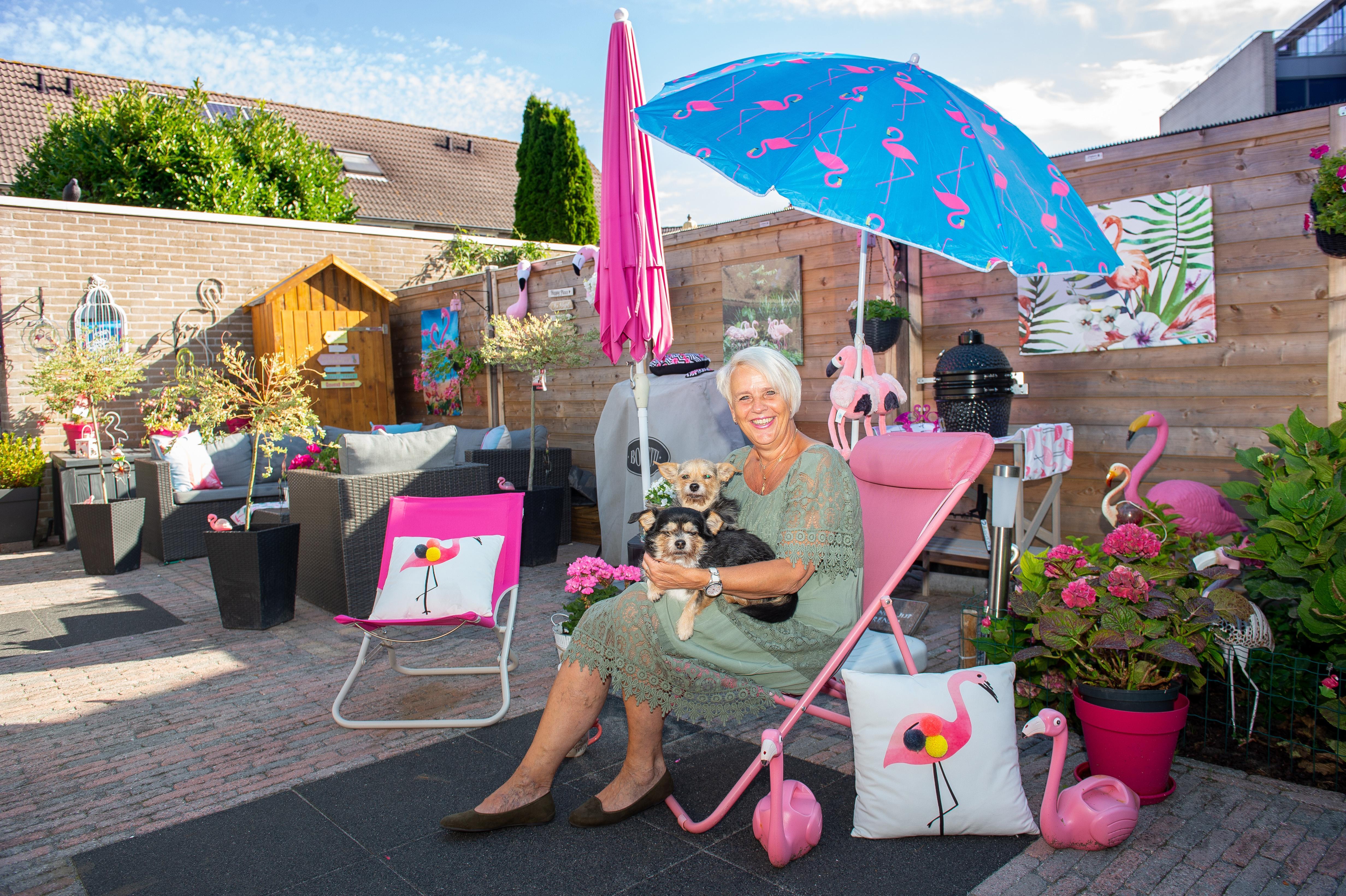 Brenda viert in Zaandam vakantie tussen de flamingo's