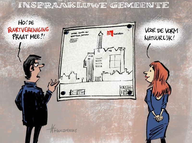 Cartoon Maarten Wolterink: Buurtclubs zijn gemeente beu