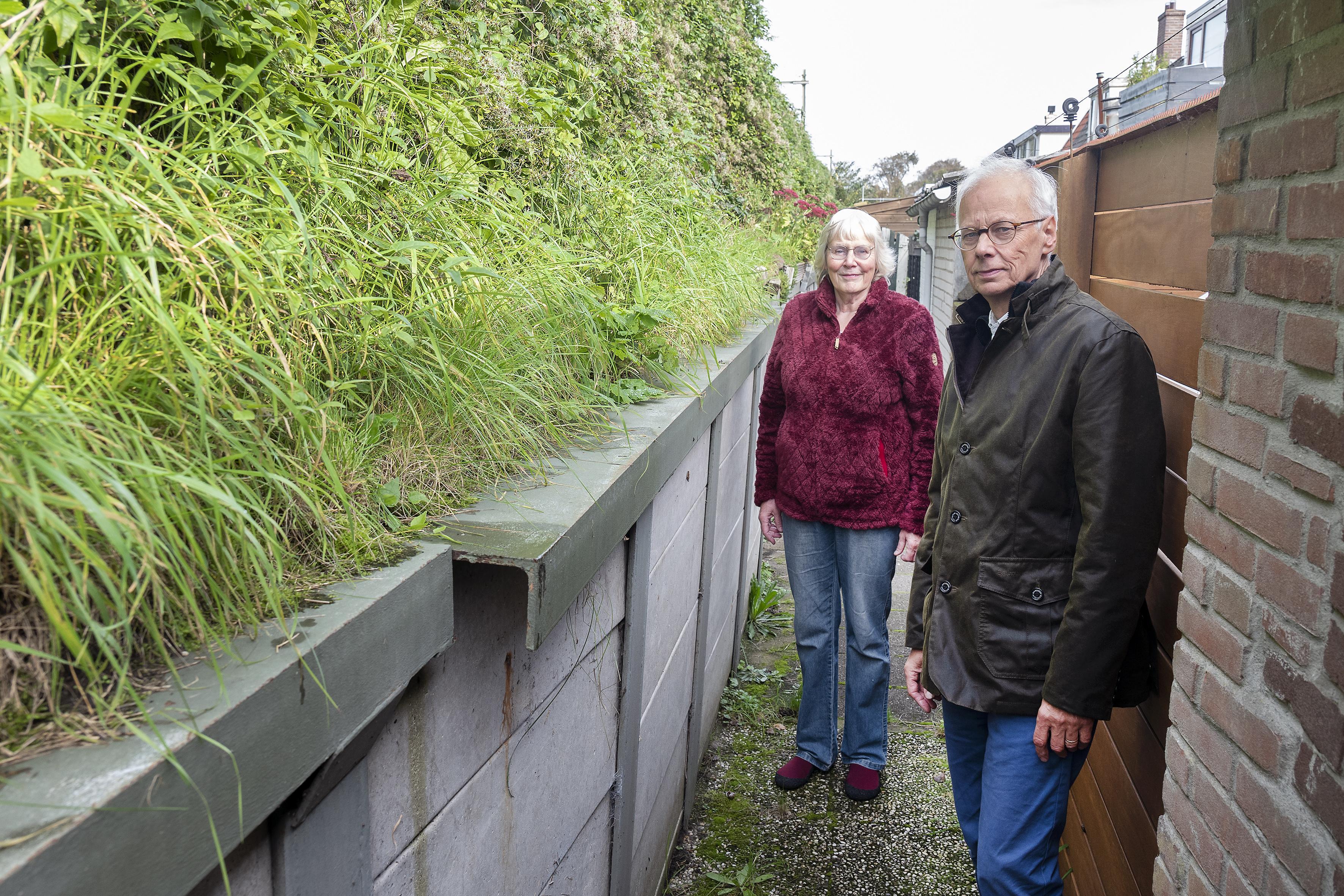 Bewoners langs Leidsevaart Vogelenzang zijn het zat: 'Spoordijk verzakt en situatie is heel onveilig'