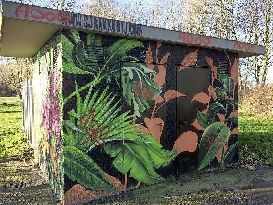 Graffitispuiters die in Hoorn de tags 'K-R' en 'ADOG' achterlieten, staan dinsdag voor de politierechter
