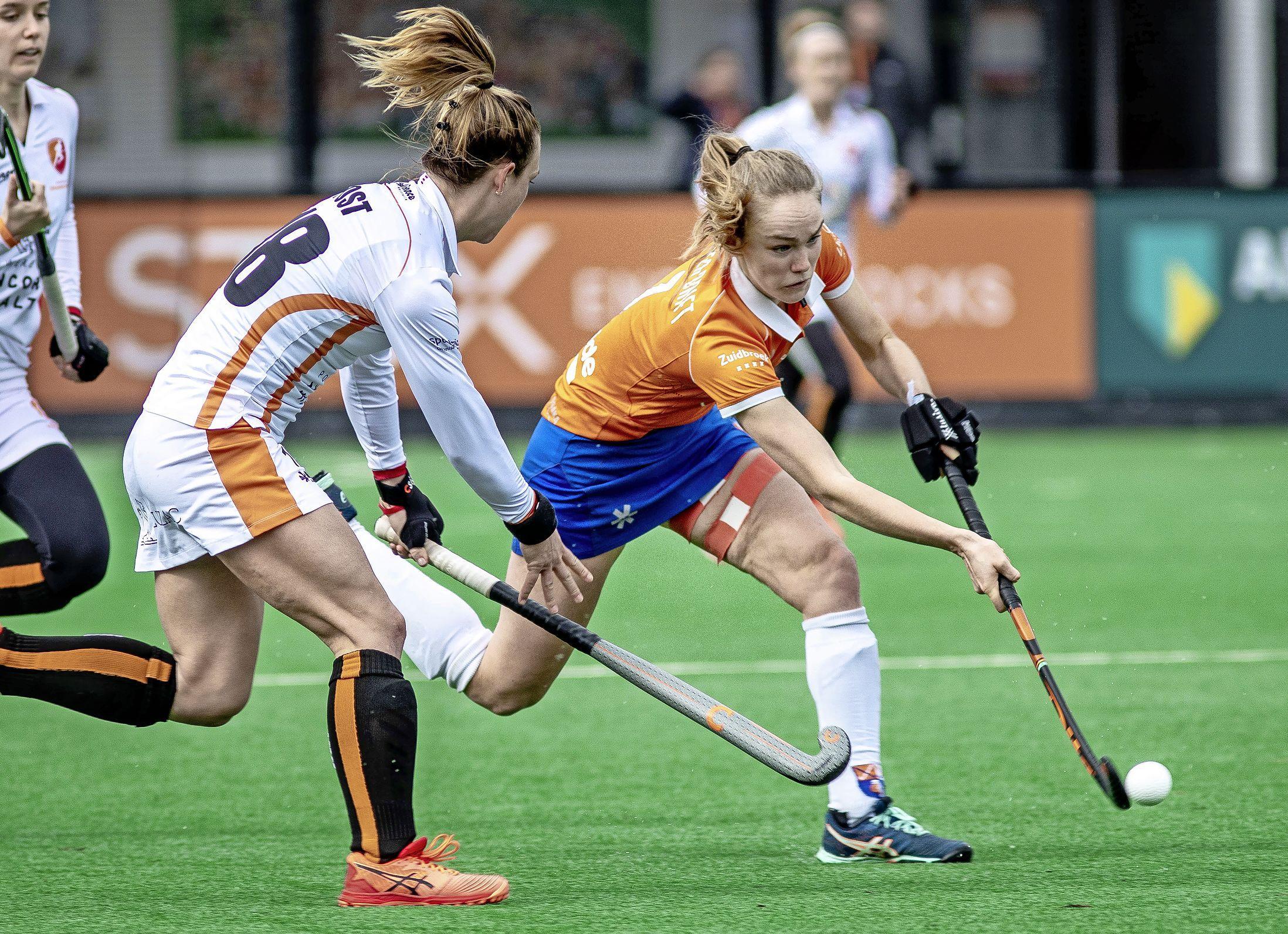 Hockeysters Bloemendaal creëren in cirkel van Oranje-Rood te weinig en verliezen dan ook met 0-1