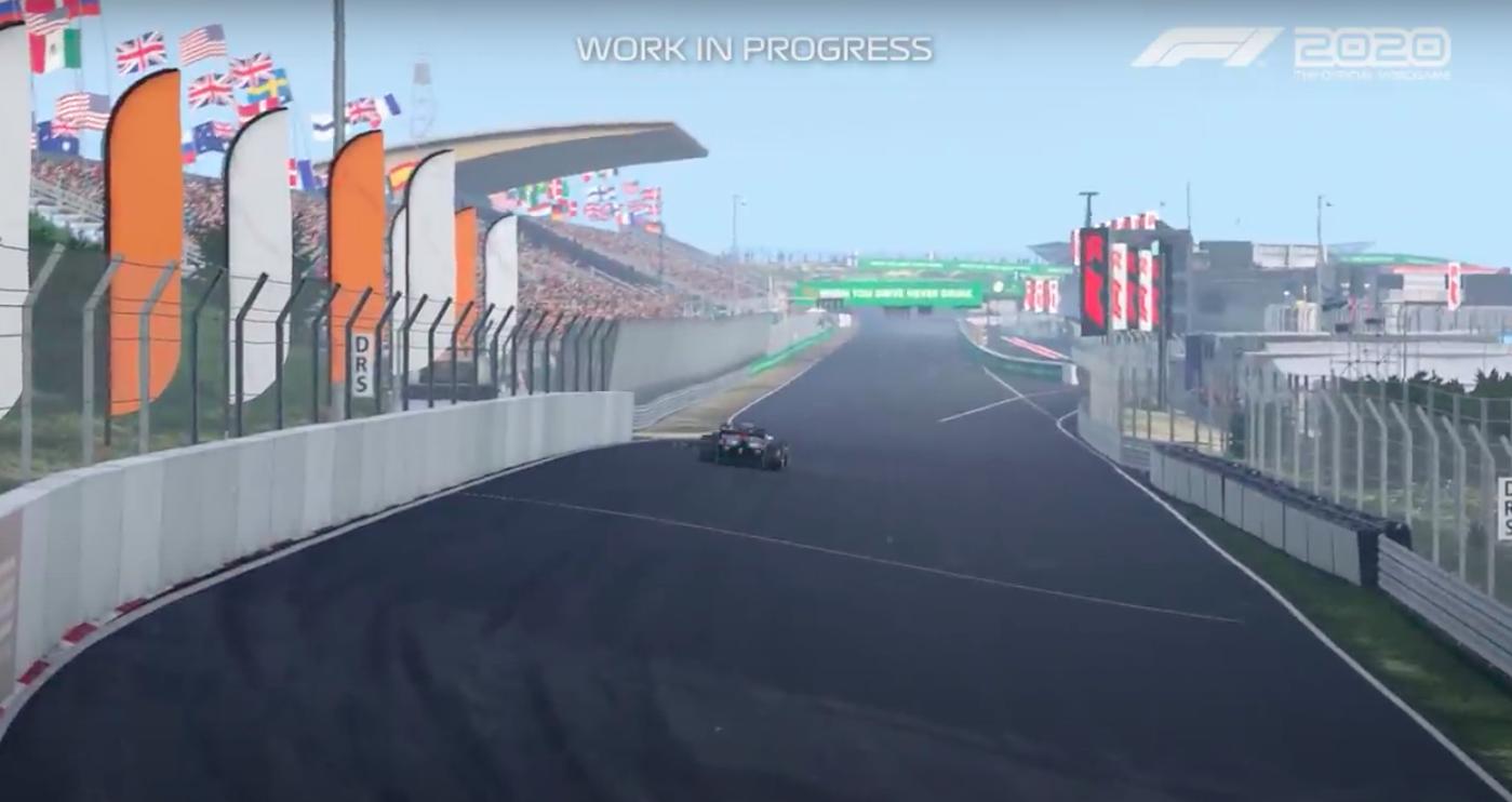 Zo had Zandvoort er dit weekend uit kunnen zien. Circuit gepresenteerd in nieuwe F1 2020 racegame [video]
