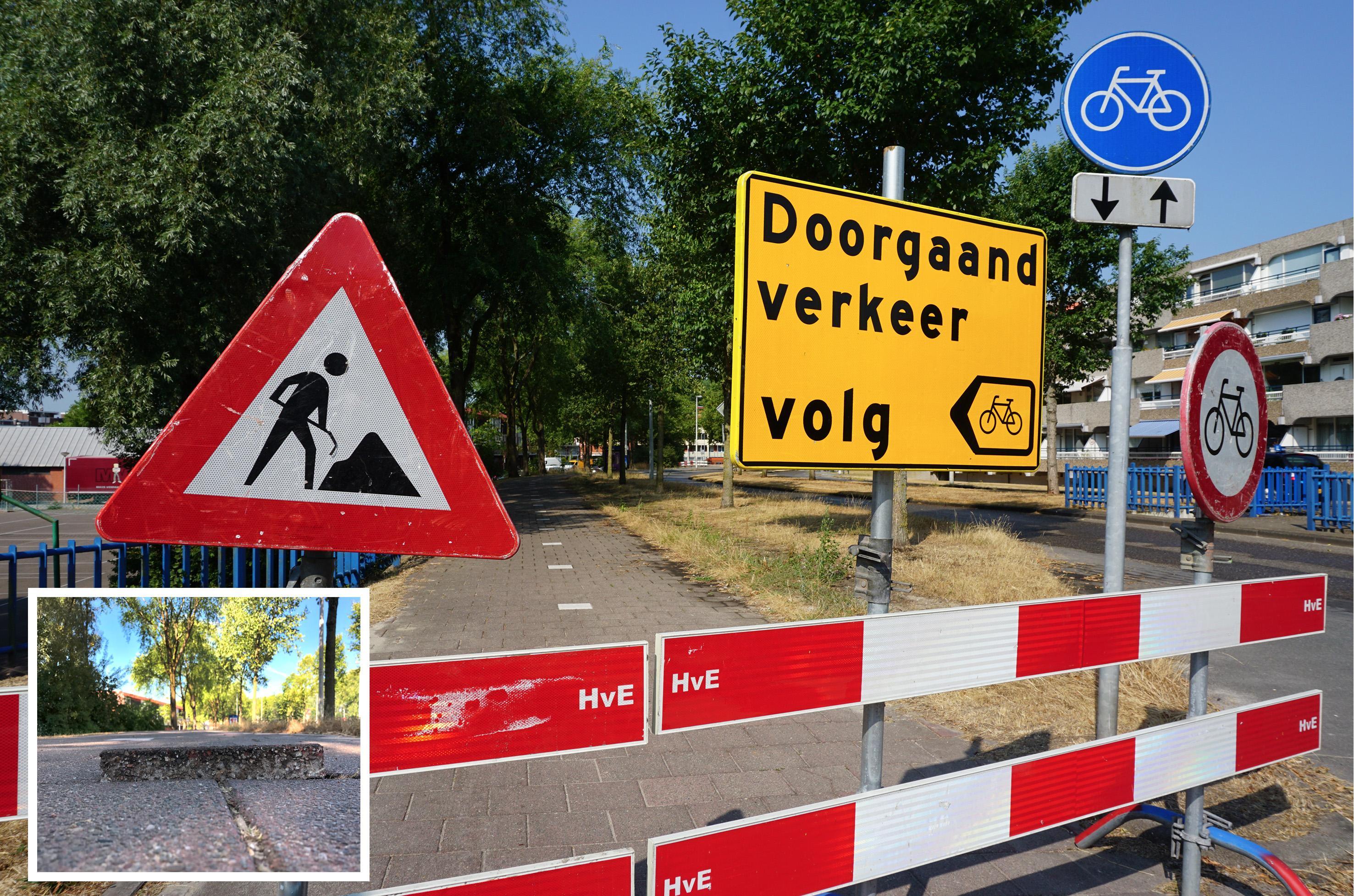 Zaanstad sluit 'gevaarlijk' fietspad aan Rijn in Het Kalf af