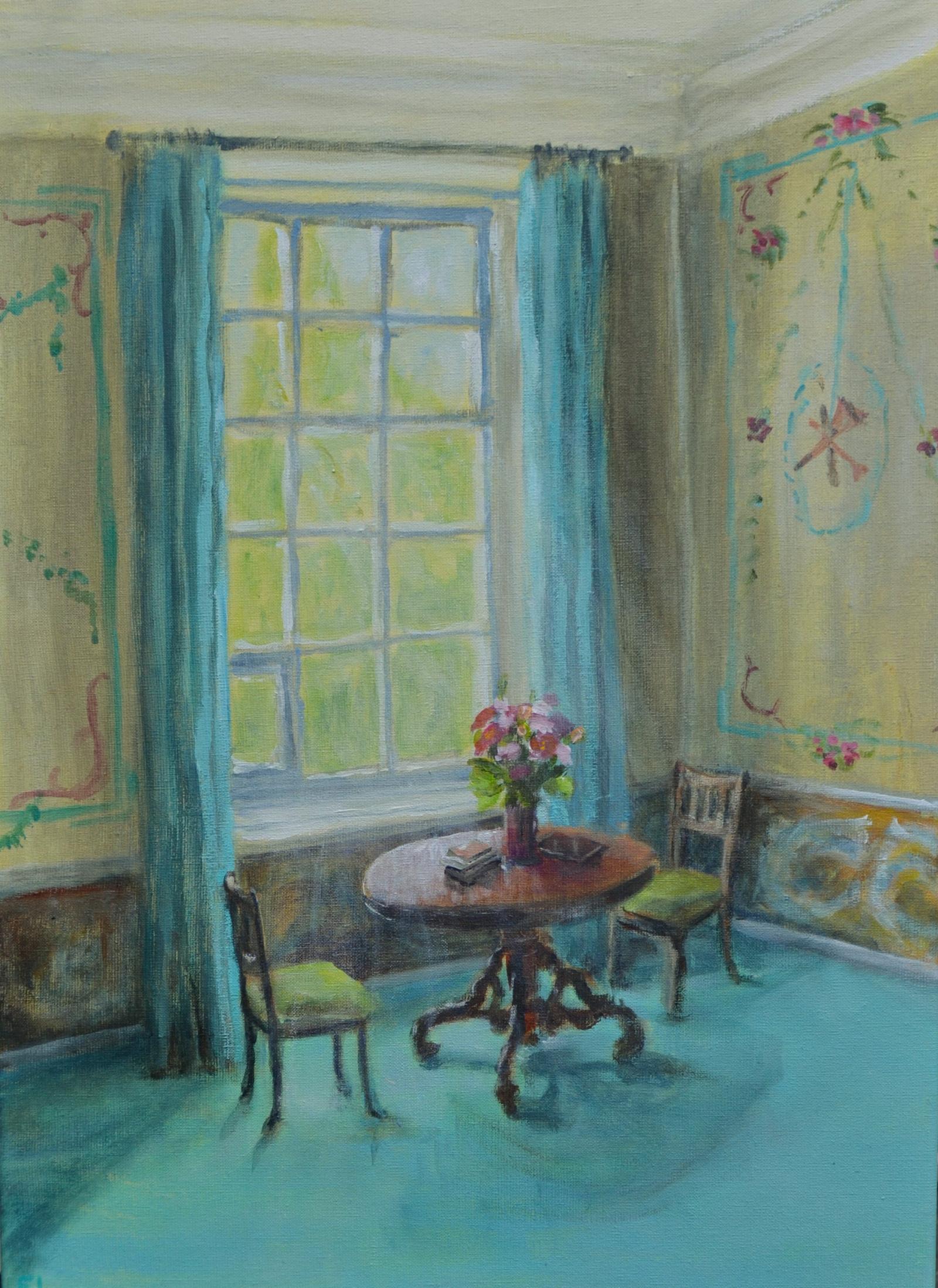 Kleurrijke sferische schilderijen dit weekeinde te zien in Oude School Kortenhoef