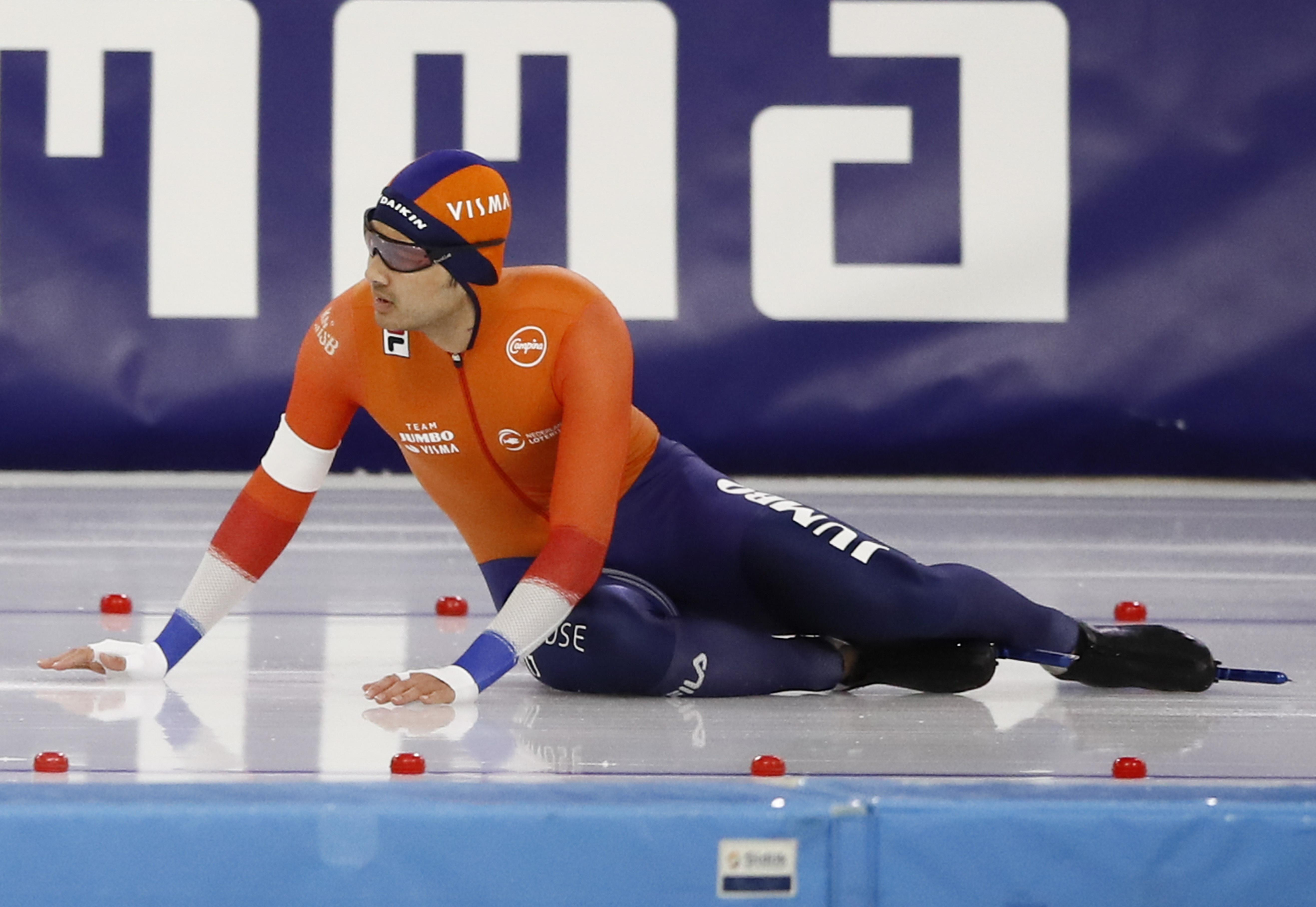 Kai Verbij snel klaar op EK sprint: 'Ik startte zó goed, helaas duurde het niet lang'