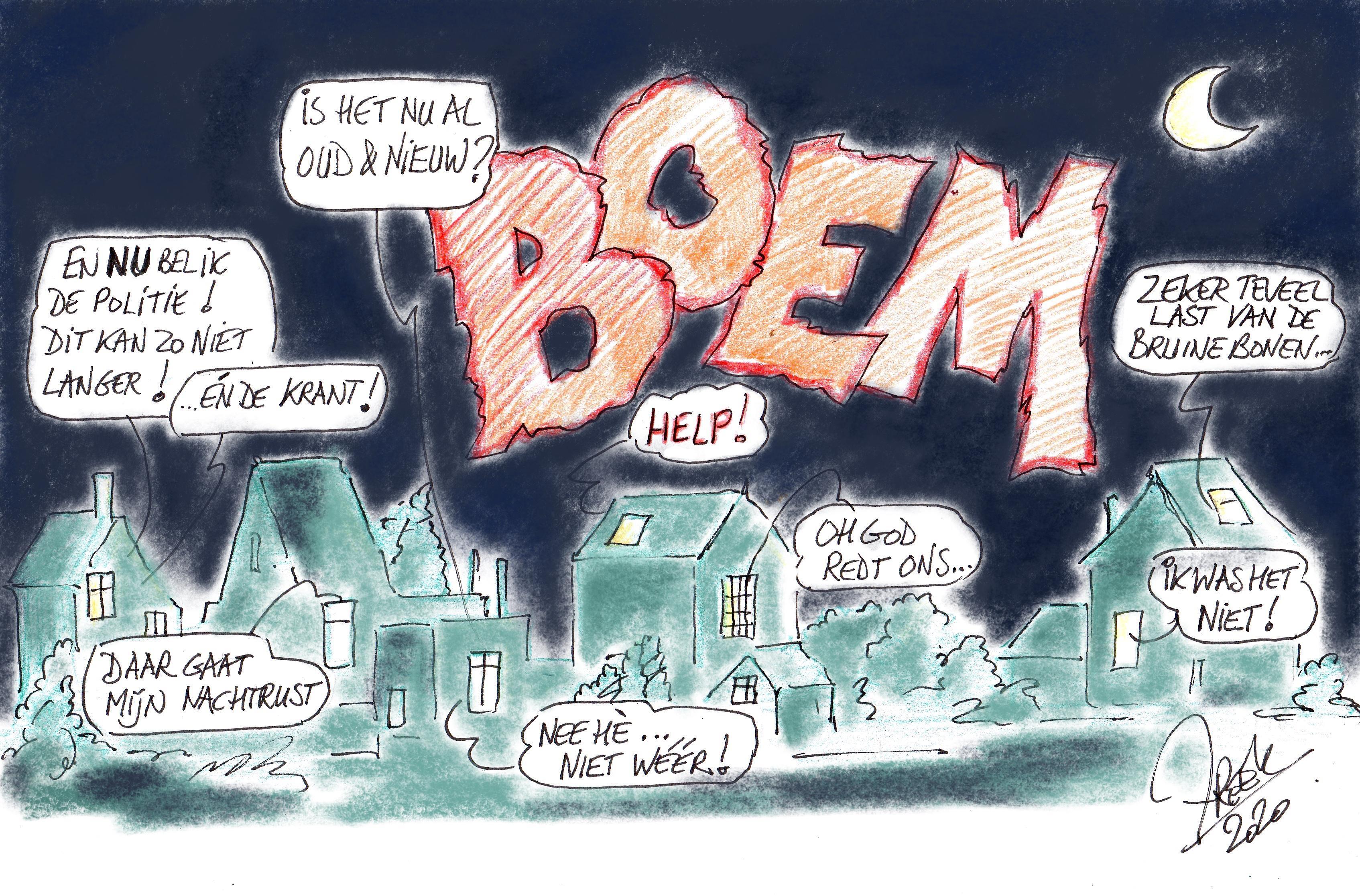 Hillegom is nachtelijke vuurwerkbommen helemaal zat. Burgemeester vraagt hulp van inwoners: wie o wie zit achter die explosies?