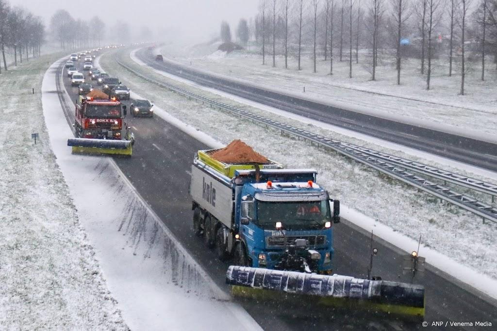 Oostelijk deel land nog glad door sneeuwresten