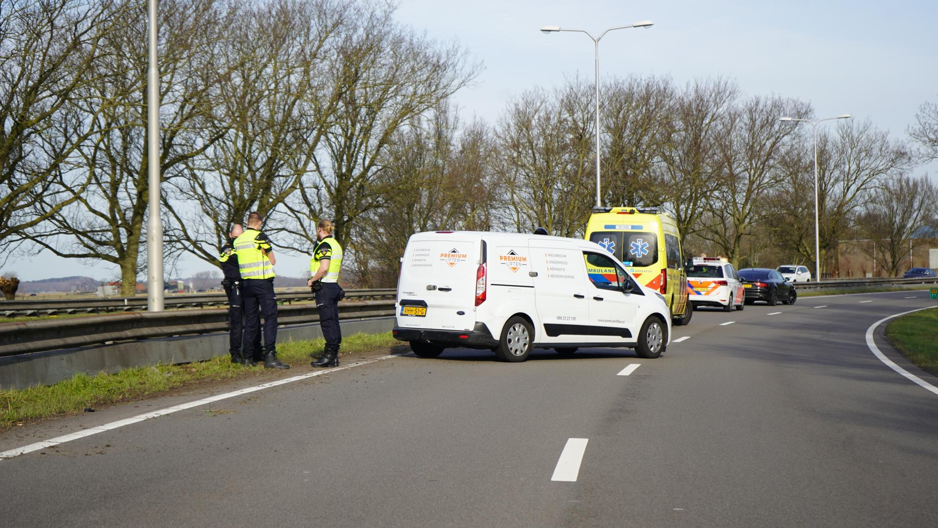 Motorrijder gewond in Alkmaar, N9 afgesloten