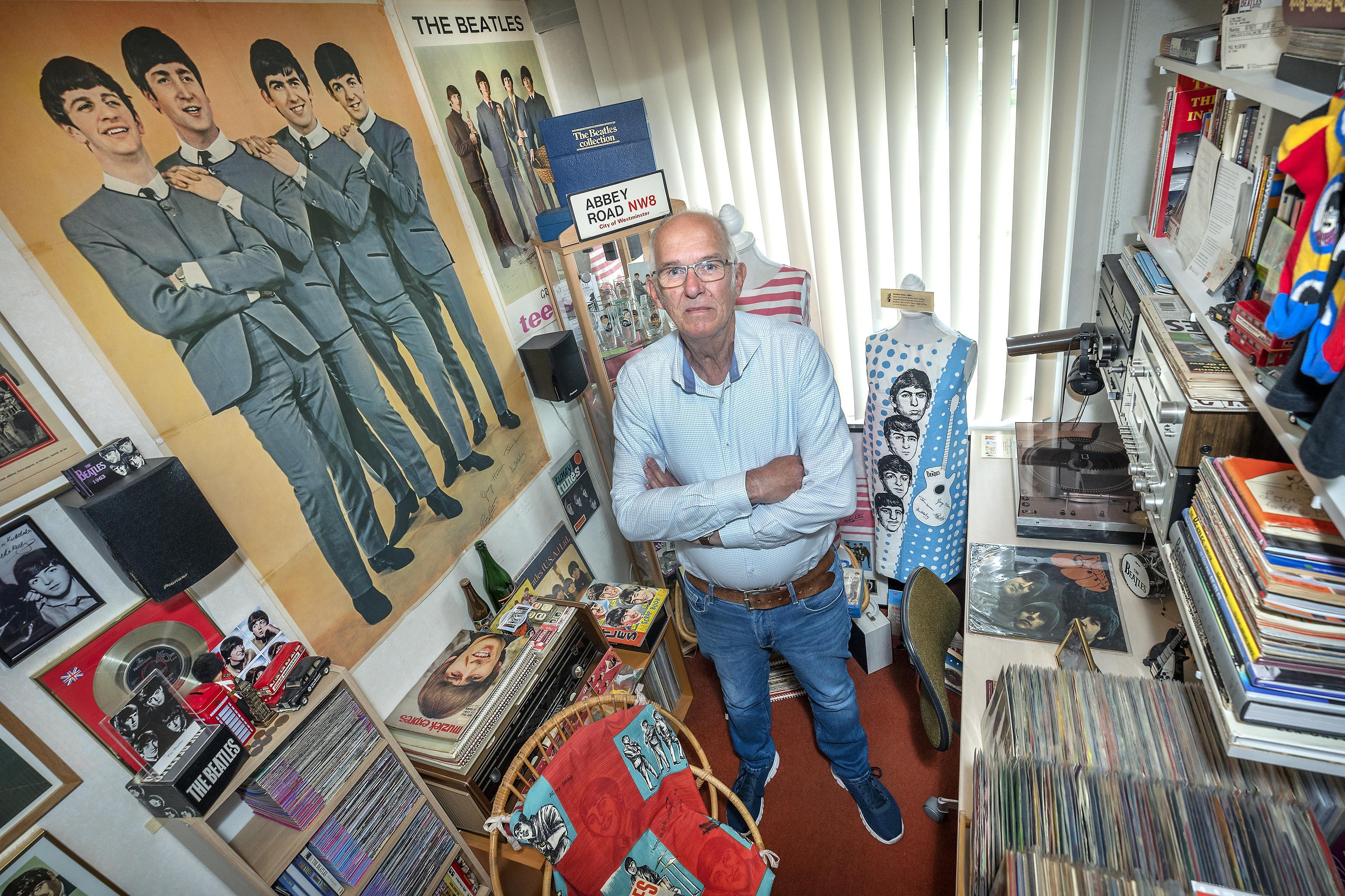 Venneper Teun Korthals wil zijn Beatlesverzameling laten zien, het liefst in een museumpje in 'Beatlesdorp' Hillegom