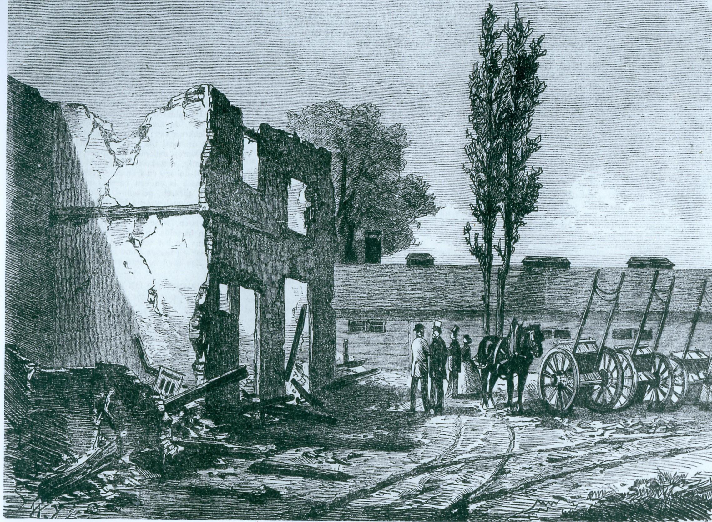 Jan Morren uit Velserbroek herschrijft geschiedenis over opstand kanaalarbeiders in 1866: Villa Wijkeroog was niet het huis dat afbrandde
