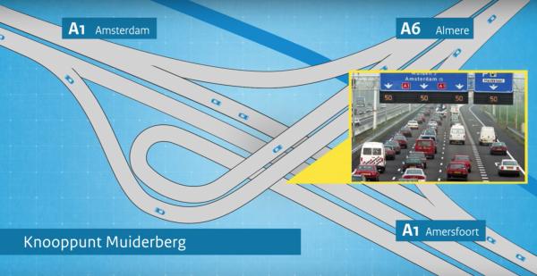 A1 tussen Diemen en Muiderberg dicht door werkzaamheden [video]