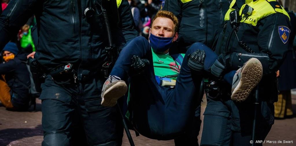 Tientallen aanhoudingen betoging Extincton Rebellion in Den Haag
