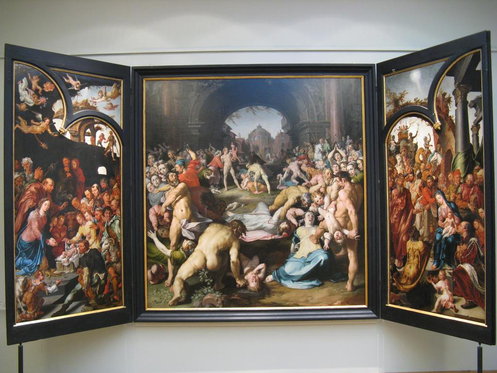 Maerten van Heemskerck schilderde twee delen van een bijzondere Haarlemse kerstafbeelding
