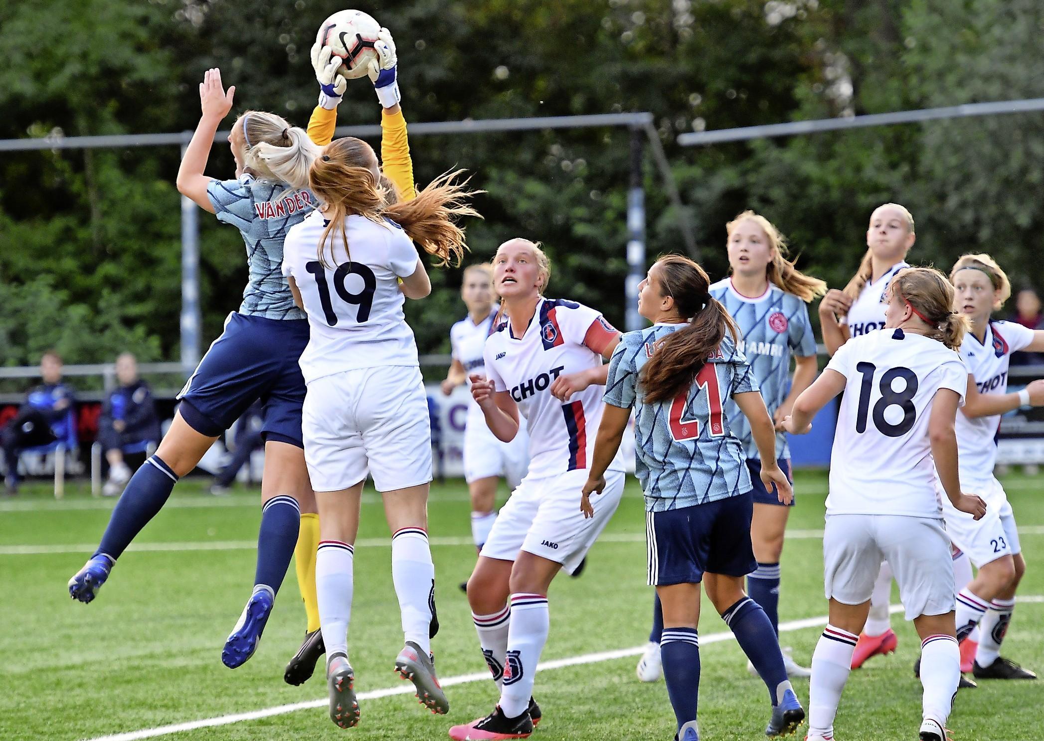 De camera's staan nu ook vol op het vrouwenvoetbal in de Nederlandse eredivisie. Wedstrijd tegen Ajax vol leermomenten voor VV Alkmaar. Speelsters willen vooral genieten