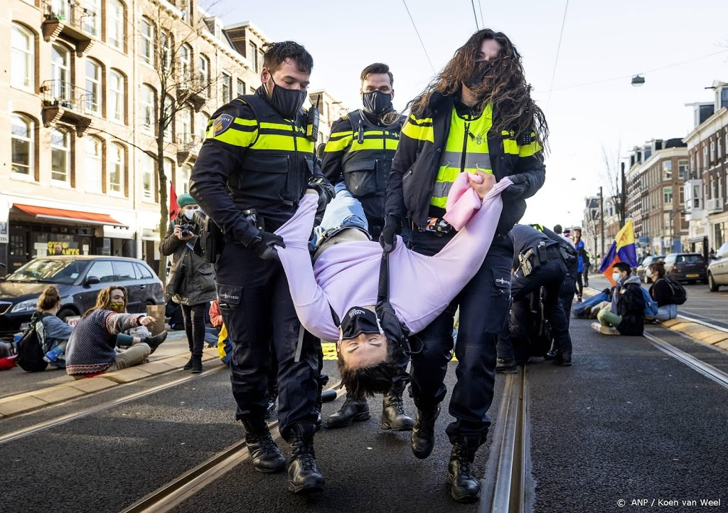 Demonstratie Extinction Rebellion in Amsterdam ontbonden