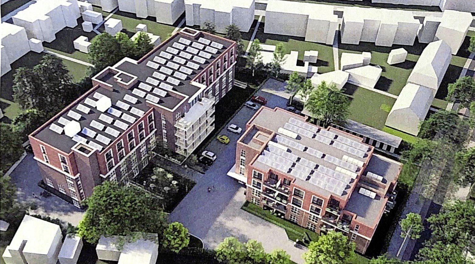 Omwonenden Carolushuis Hilversum teleurgesteld over gesprek met wethouder en ontwikkelaar. 'Wij willen niet om zes uur 's morgens vijftien loeiende vrachtwagens voor de deur hebben'