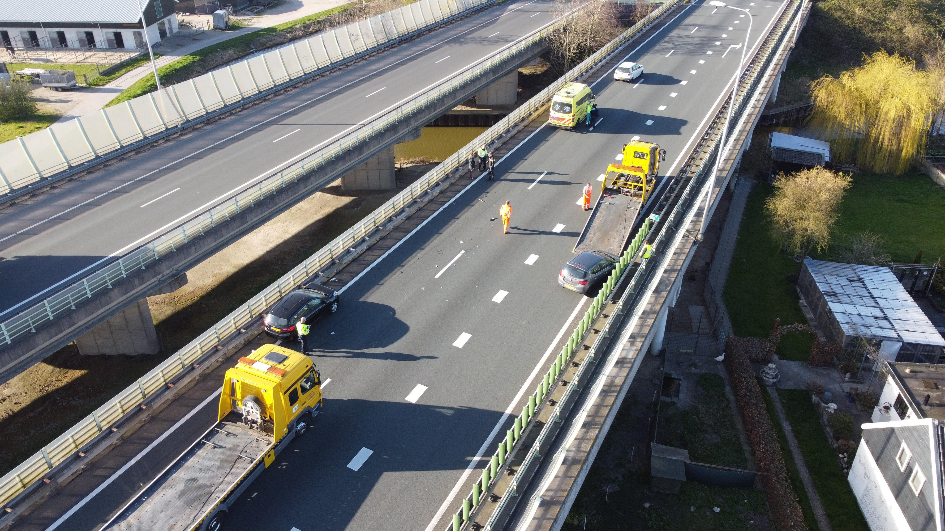 A7 richting Hoorn enige tijd dicht tussen Purmerend-Noord en Avenhorn door ongeluk