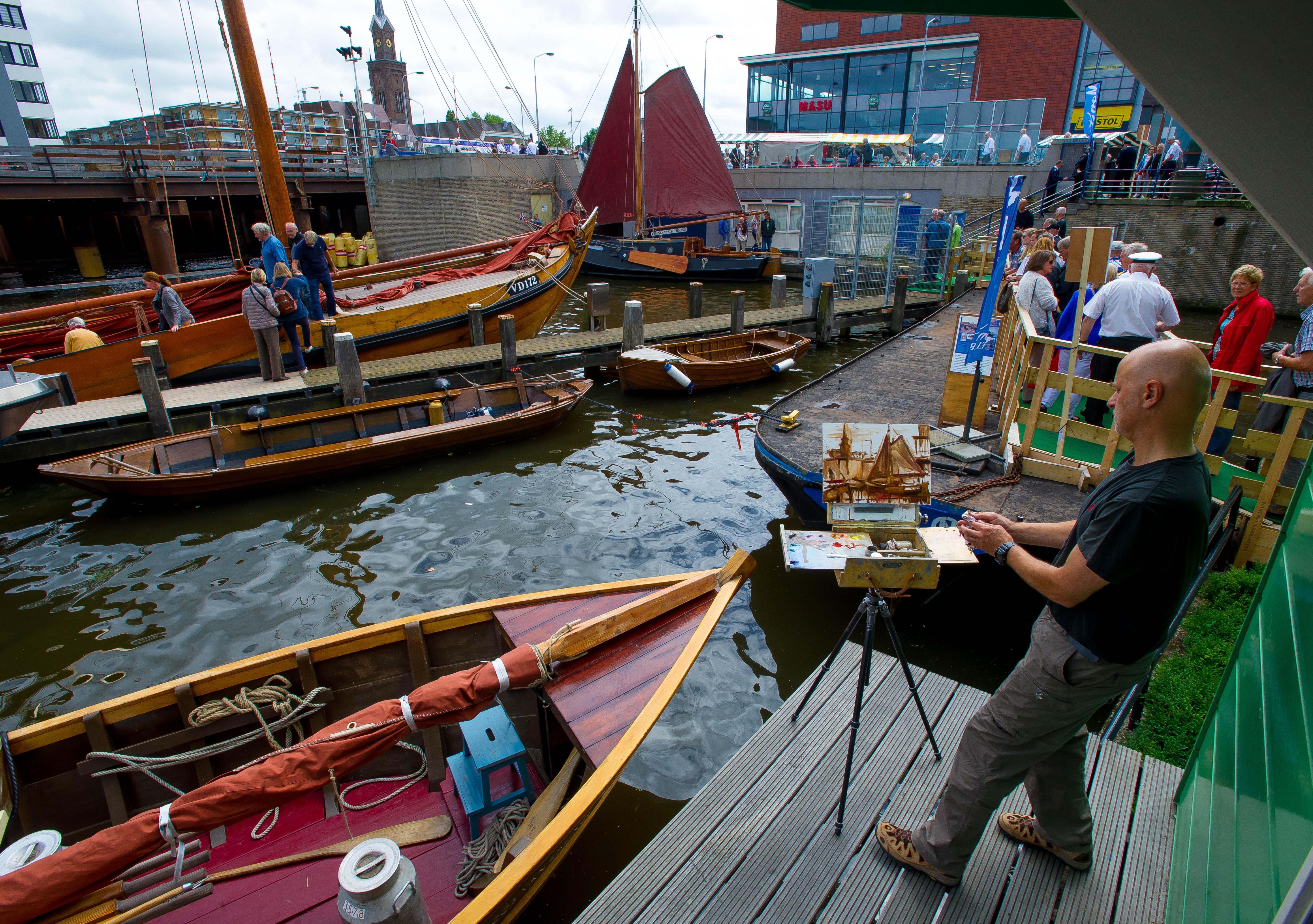 Buiten schilderen als Claude op Monet Art Festival in Zaandam en Wormerveer
