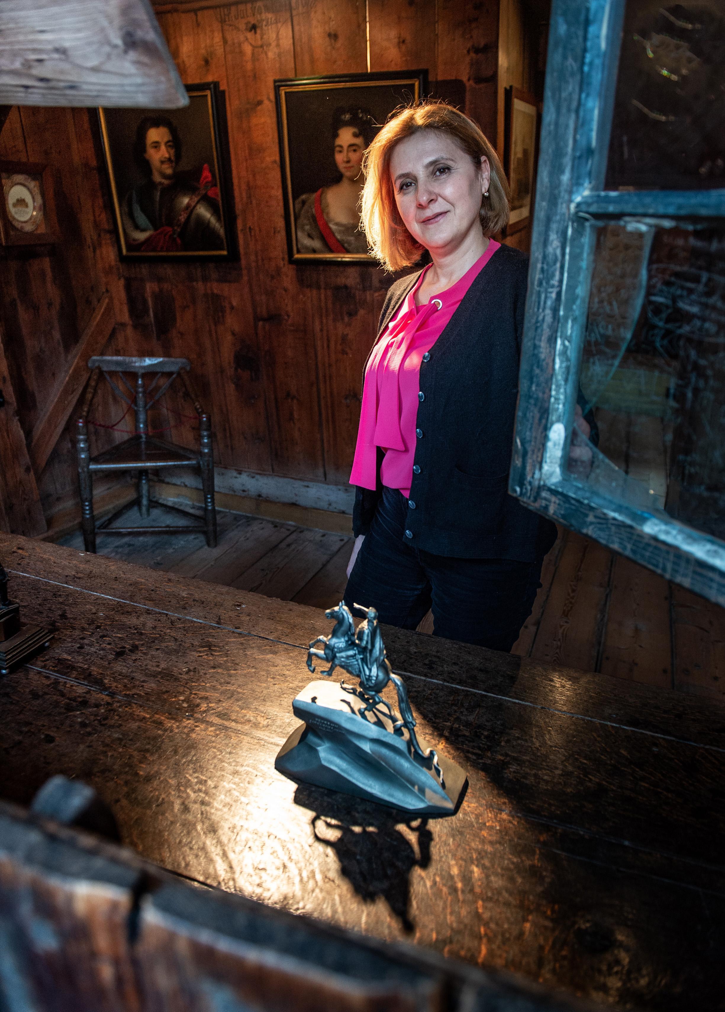 Farida Guseynova bewaakt in Zaandam de tsaar; 'De Russische winter mis ik wel, want een goede winter is heel gezond'