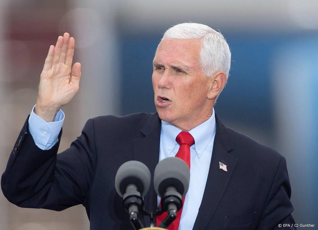 Mike Pence: herverkiezing als aanloop naar presidentschap