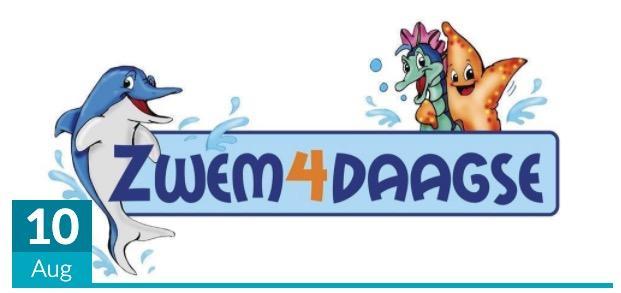 Komende maandag start de Zomer Zwem4Daagse in Sportfondsenbad
