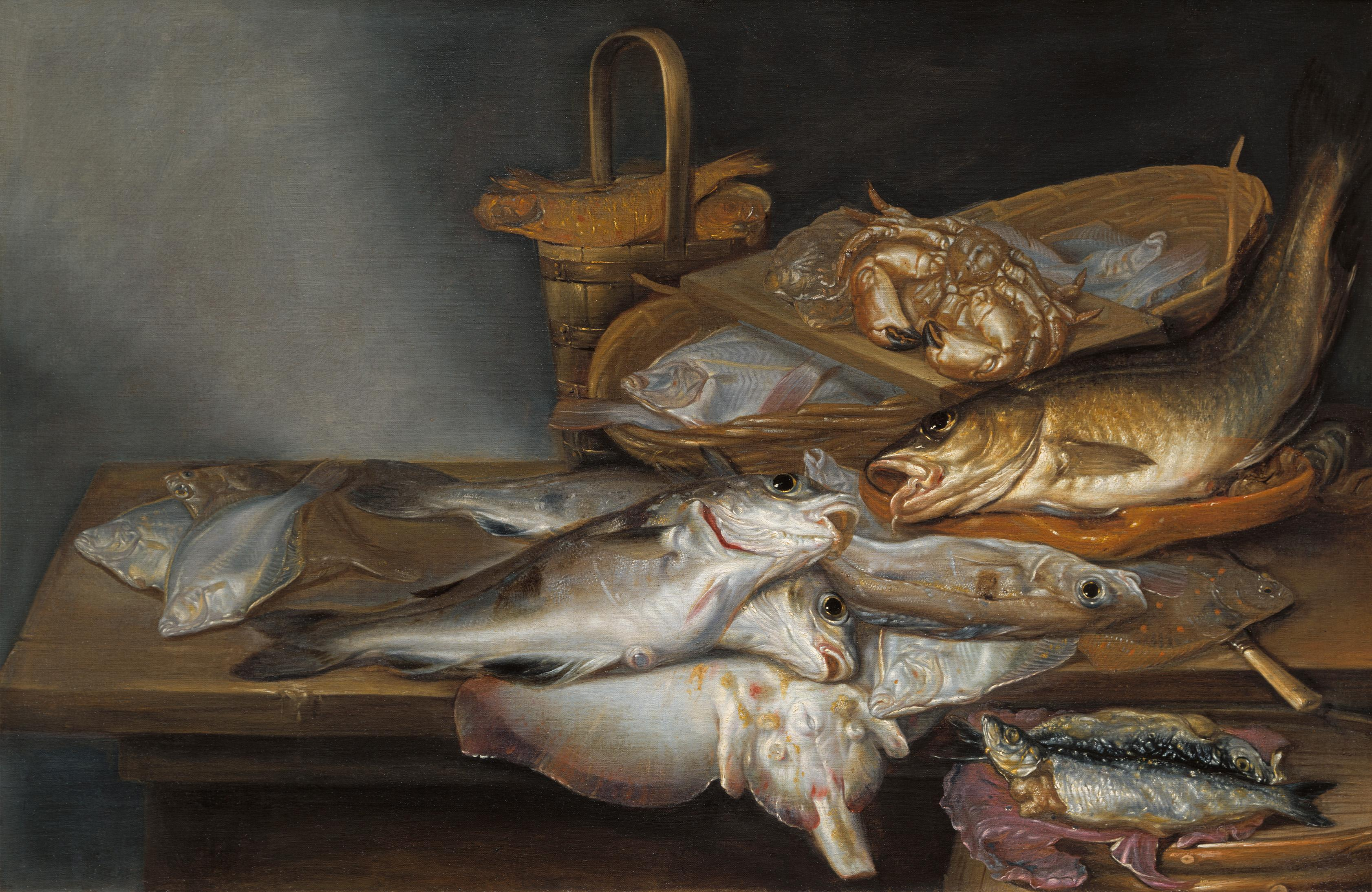 Vis was de hoofdmoot bij Pieter van Schaeyenborgh: expositie van de zeventiende-eeuwse meester uit Alkmaar in Stedelijk Museum