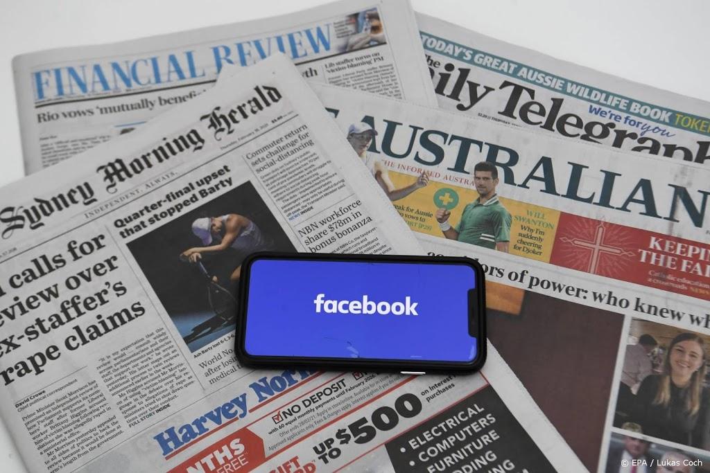 Delen van nieuws in Australië via Facebook wordt weer mogelijk