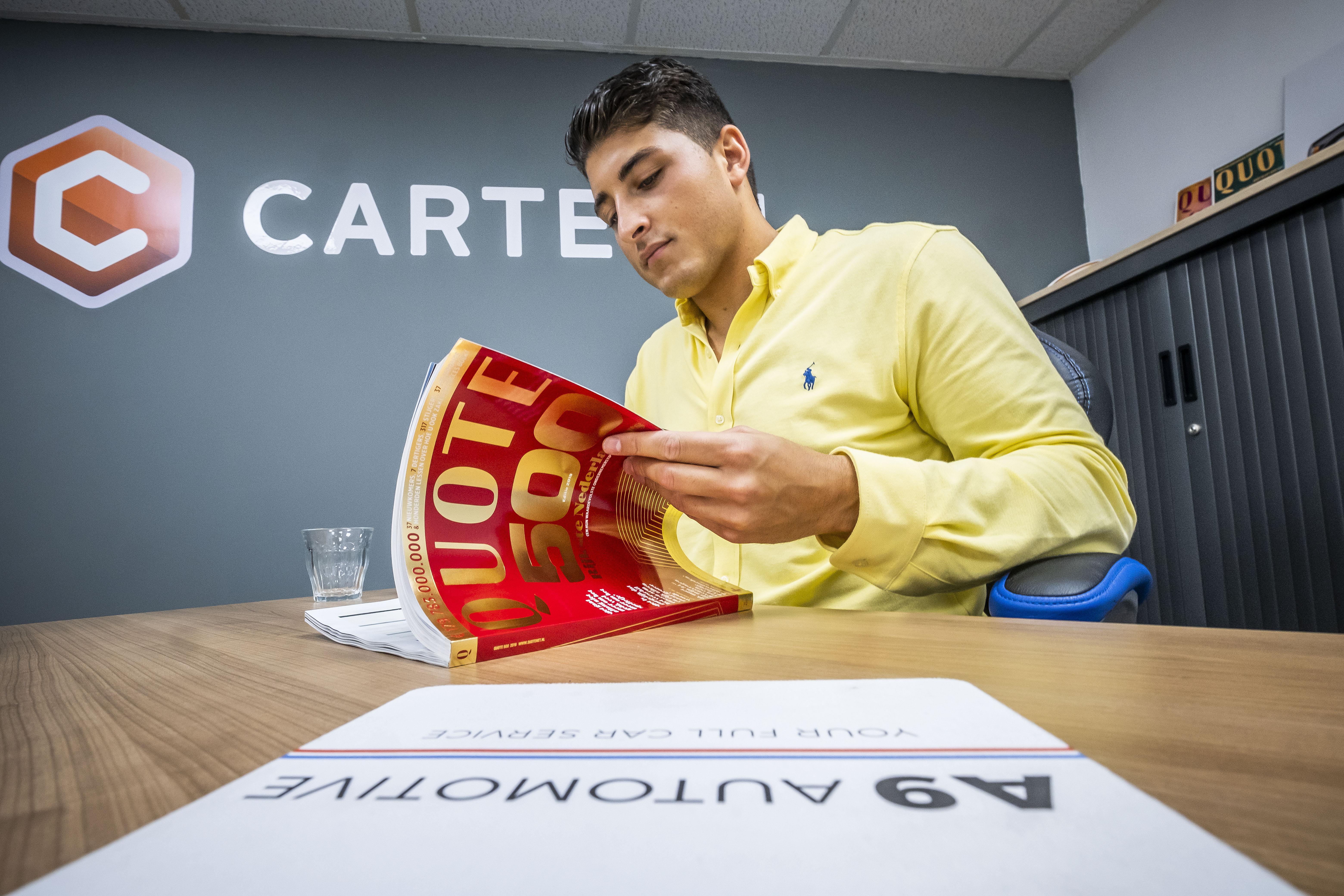 Karim Padding (22) heeft er al een half ondernemersleven opzitten