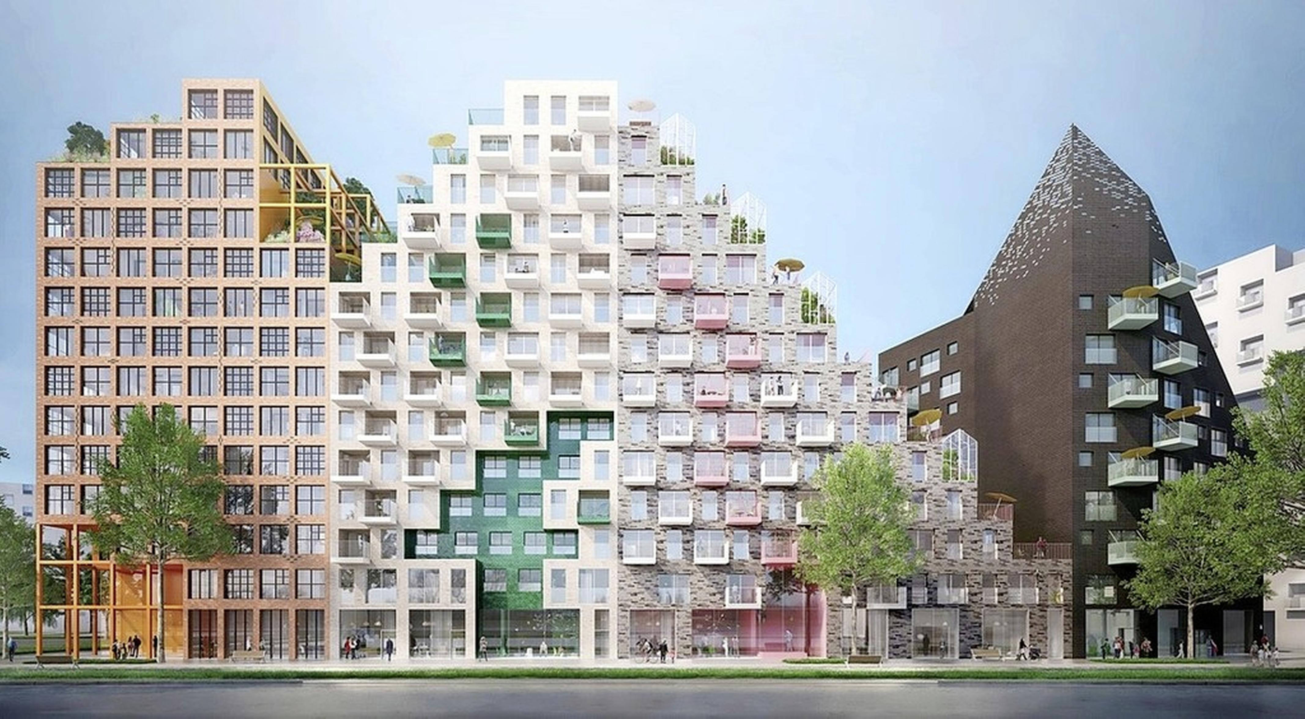 'Op die verdieping, bij dat raam woon ik.' Hyde Park in Hoofddorp wordt stads, maar ook herkenbaar