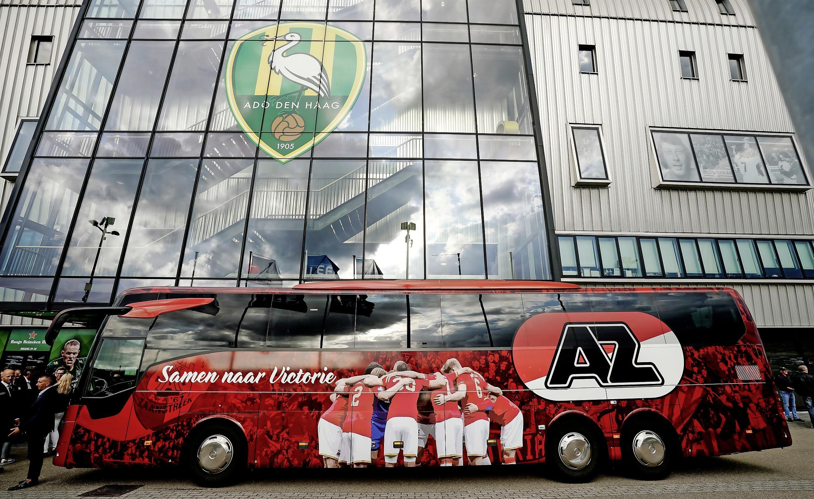 AZ-spelers kunnen tweede helft van Utrecht-AZ in de bus kijken