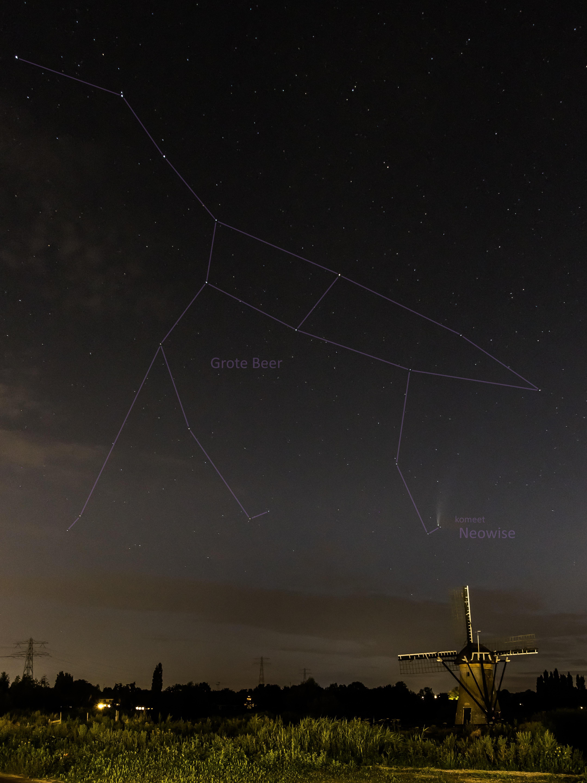 Zoeterwoudenaar spot komeet Neowise