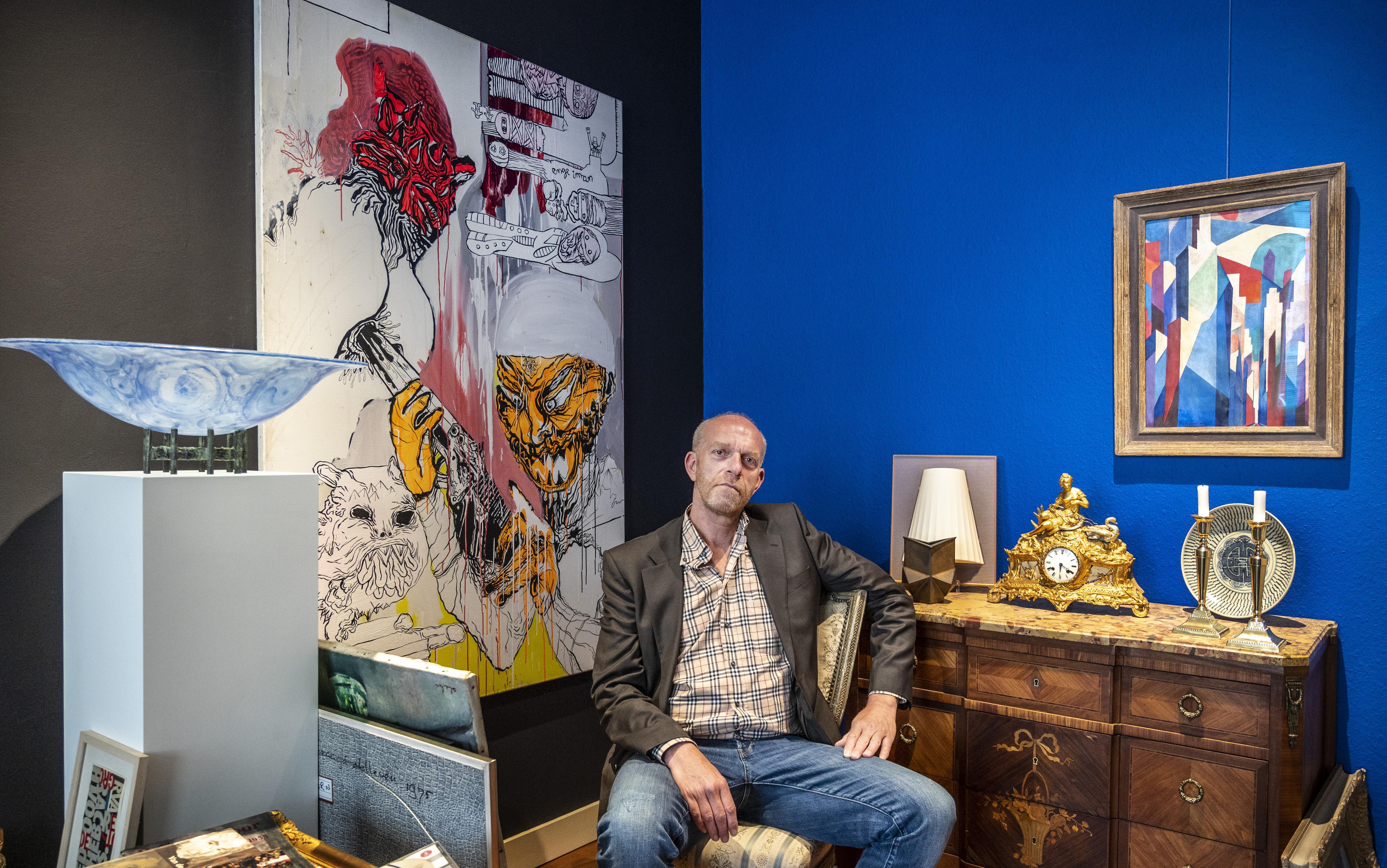 Kunst als troostaankoop: Haarlemse galeriehouder Raymond Hensgens ziet omzet flink stijgen door corona