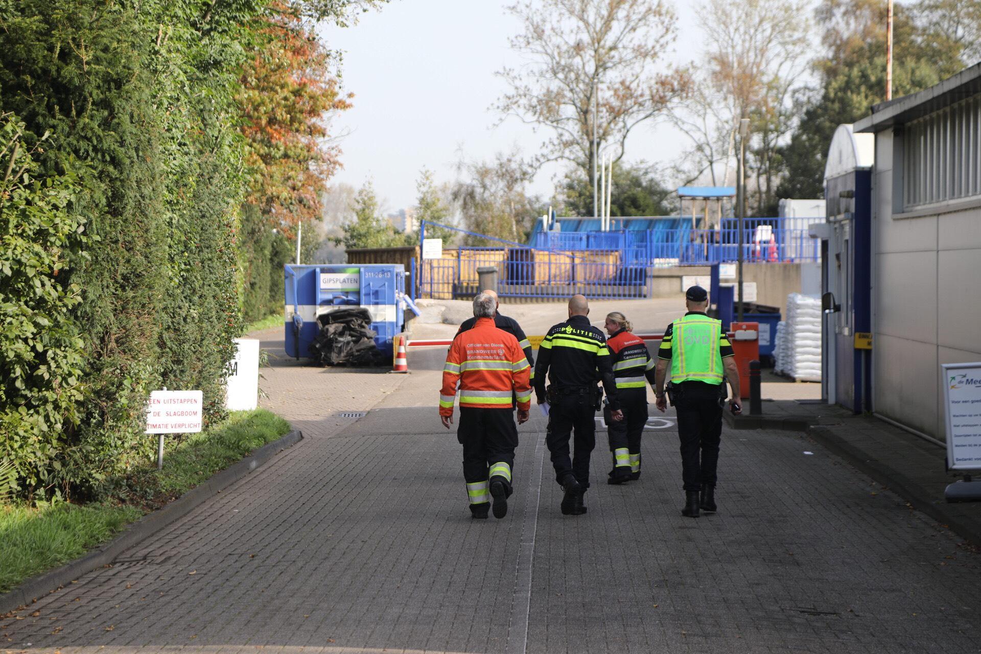 Weer drugsafval tussen grofvuil van afvalverwerkingsbedrijf in Heemstede