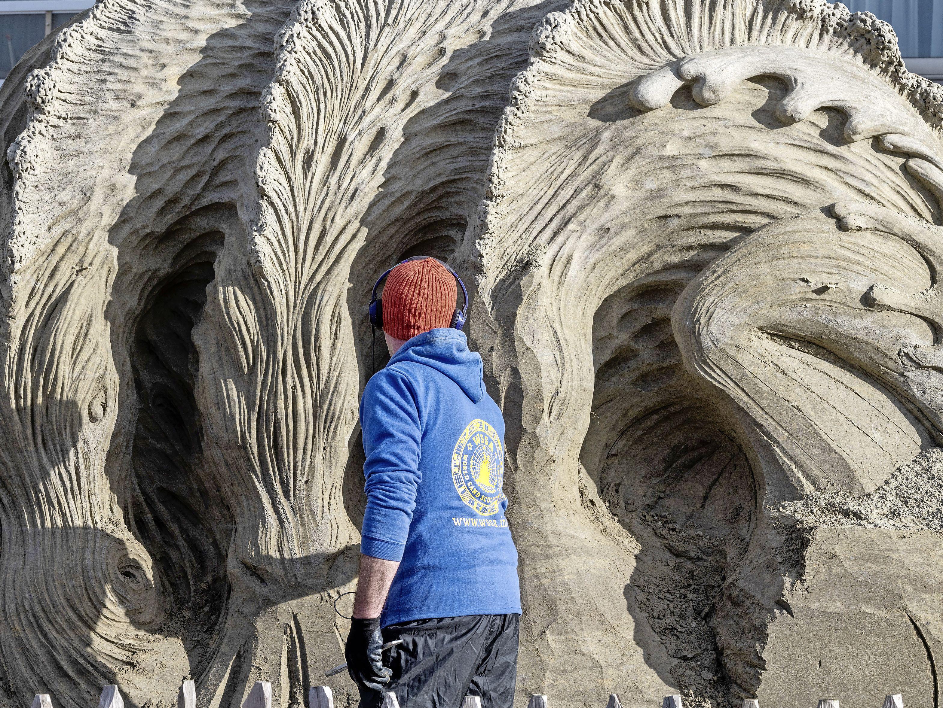 EK Zandsculpturen voor het laatst in Zandvoort