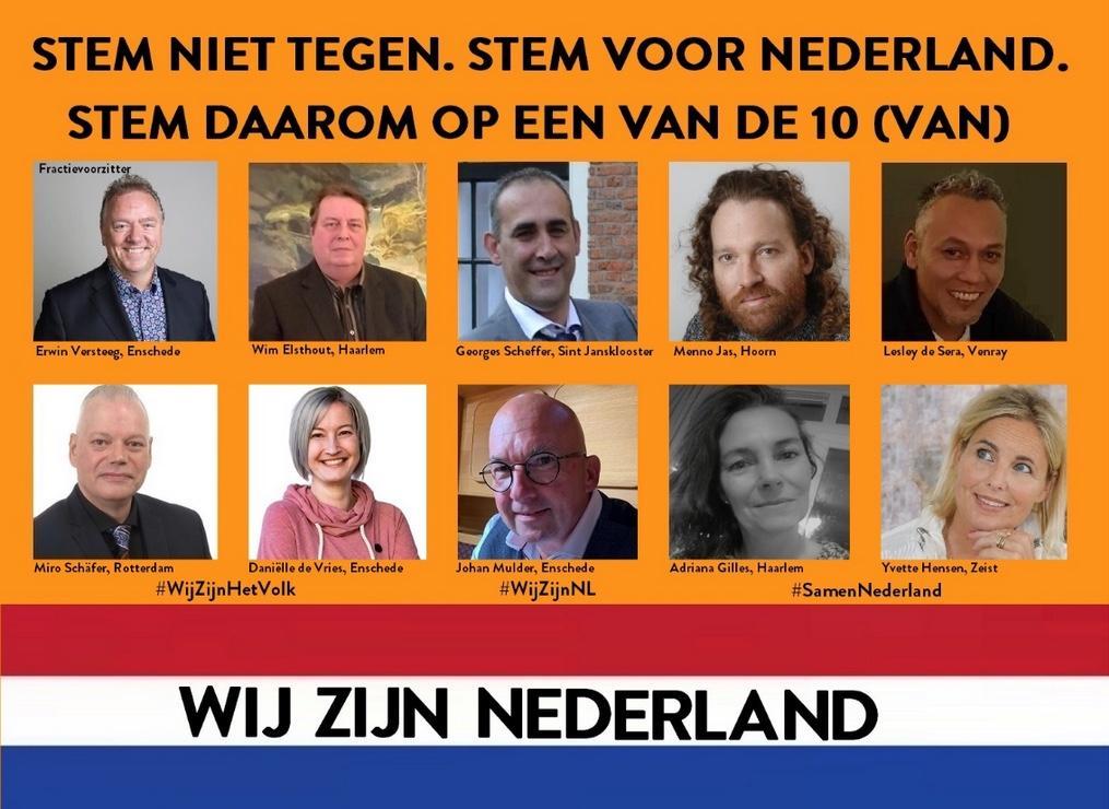 Partij 'Wij zijn Nederland' minst populair in Purmerend
