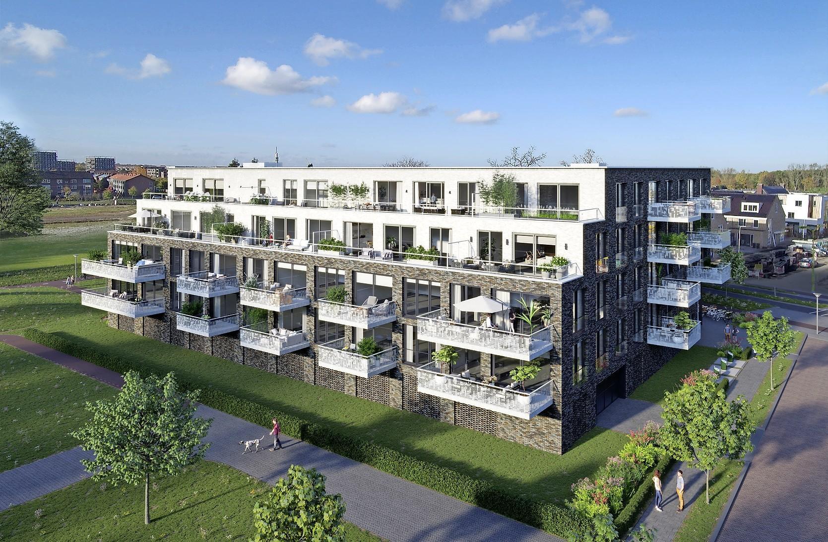 Bouw Hilversums complex Anna's Hof vertraagd: bezwaar tegen vergunning, vanwege parkeernorm, te grote balkons en kijkgaten