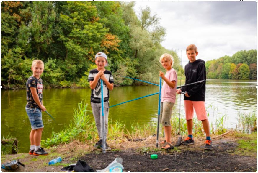 'Vissen herontdekt tijdens corona', kinderen leren vissen op de Vlaskamp