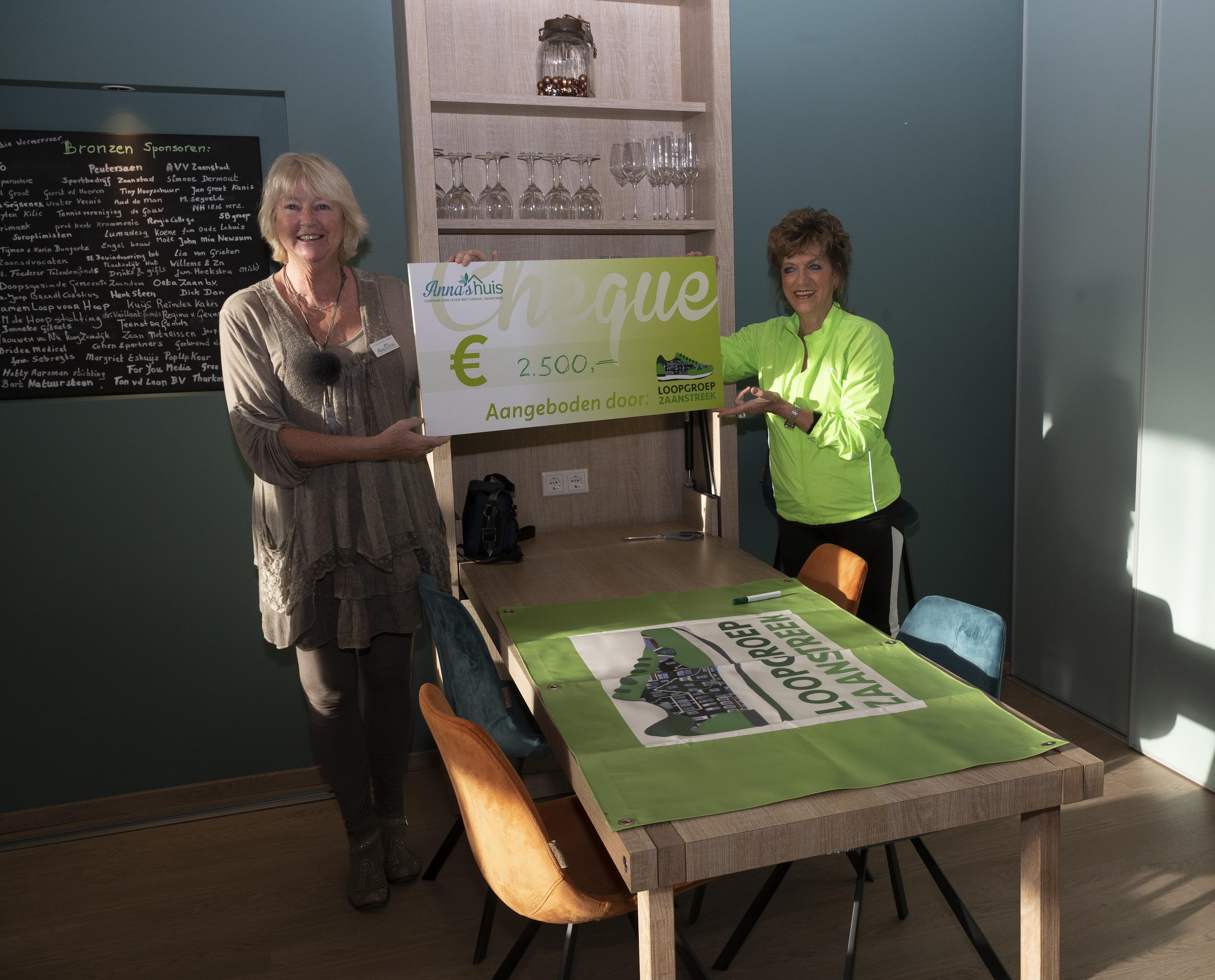Loopgroep Zaanstreek doneert 2.500 euro aan Anna's huis, centrum voor leven met kanker