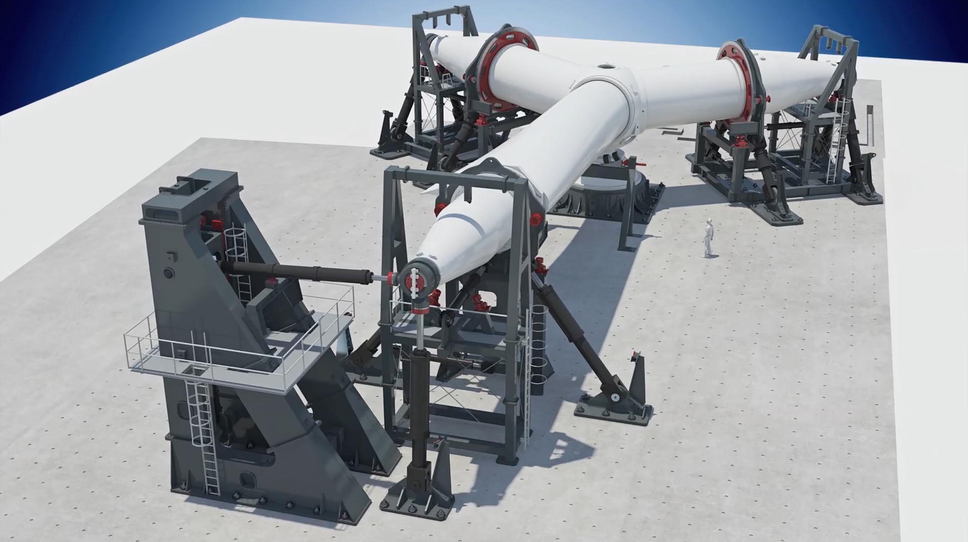 In Wieringerwerf gaat in november de grootste testlocatie voor windturbinebladen van start