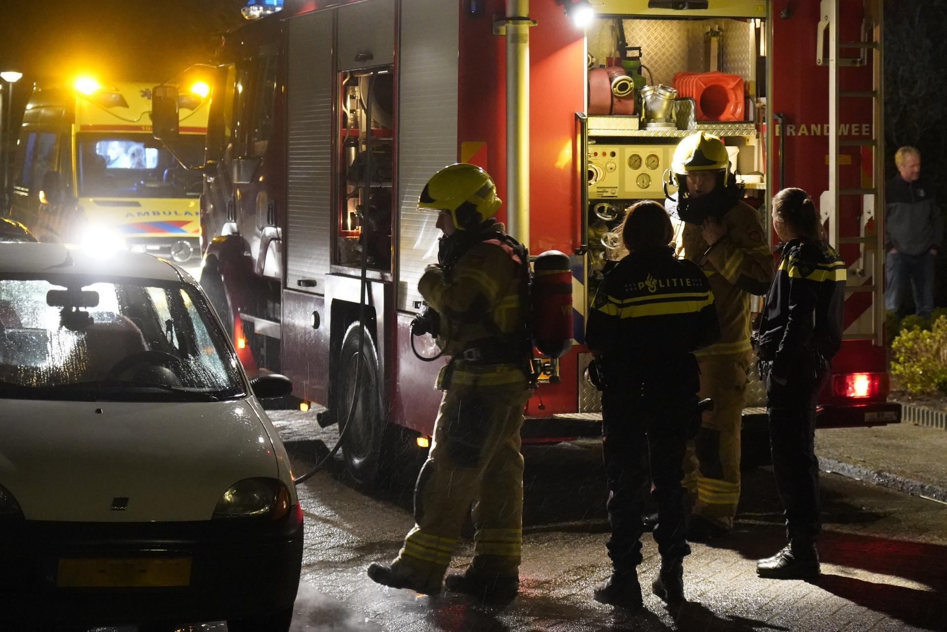 Droger veroorzaakt brand in woning Hippolytushoef, één bewoner gewond