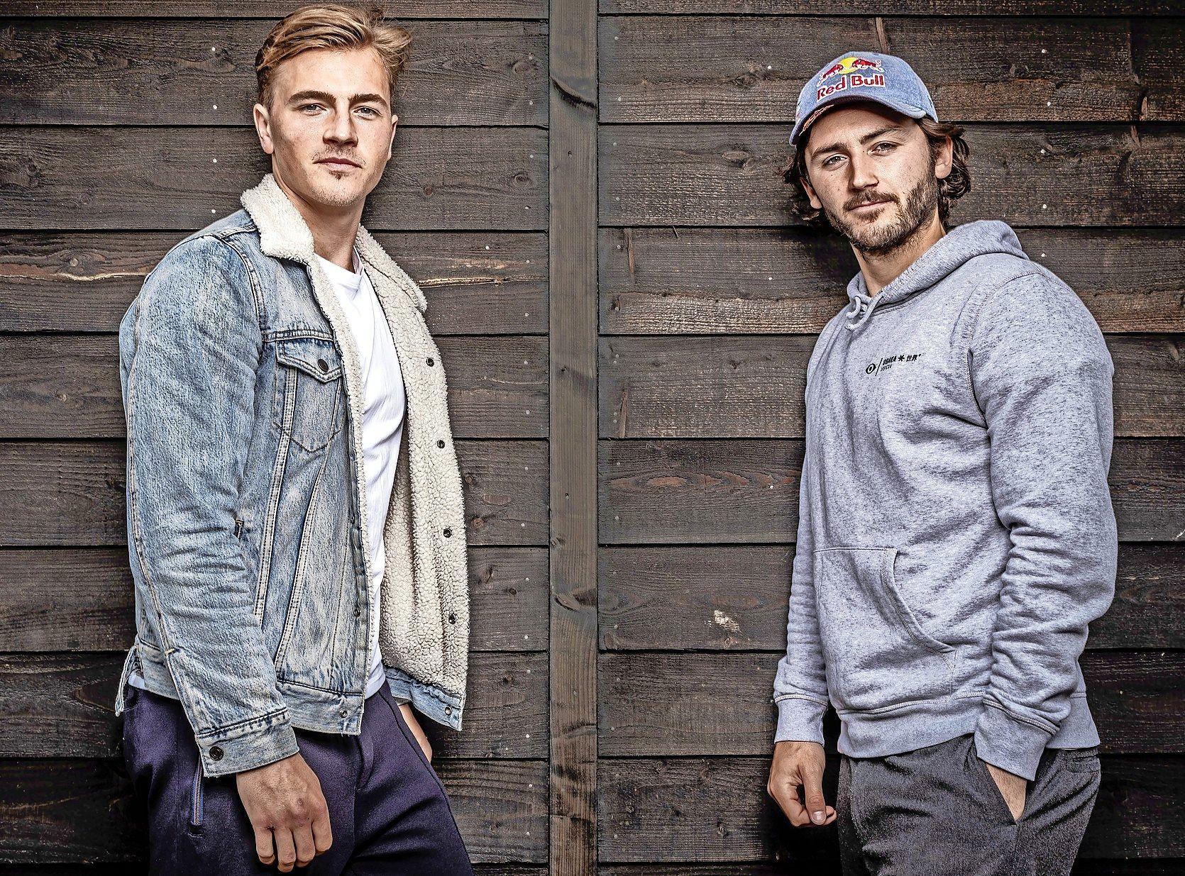 Bloemendaalse hockeyvrienden Jorrit Croon en Arthur van Doren zijn zaterdag even gezworen vijanden