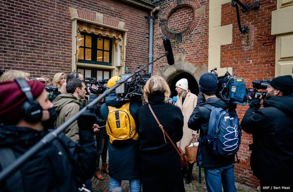 Meer drukte en politie op Binnenhof in verband met aftreden