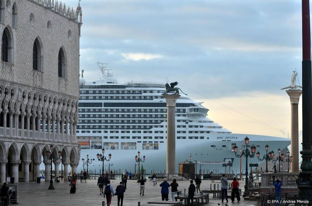 Cruiseschepen niet langer gewenst bij San Marcoplein Venetië