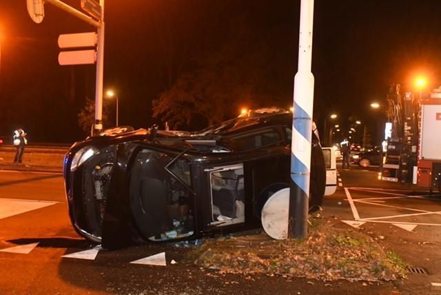 Automobilist gewond na botsing op de Rijksstraatweg in Wassenaar