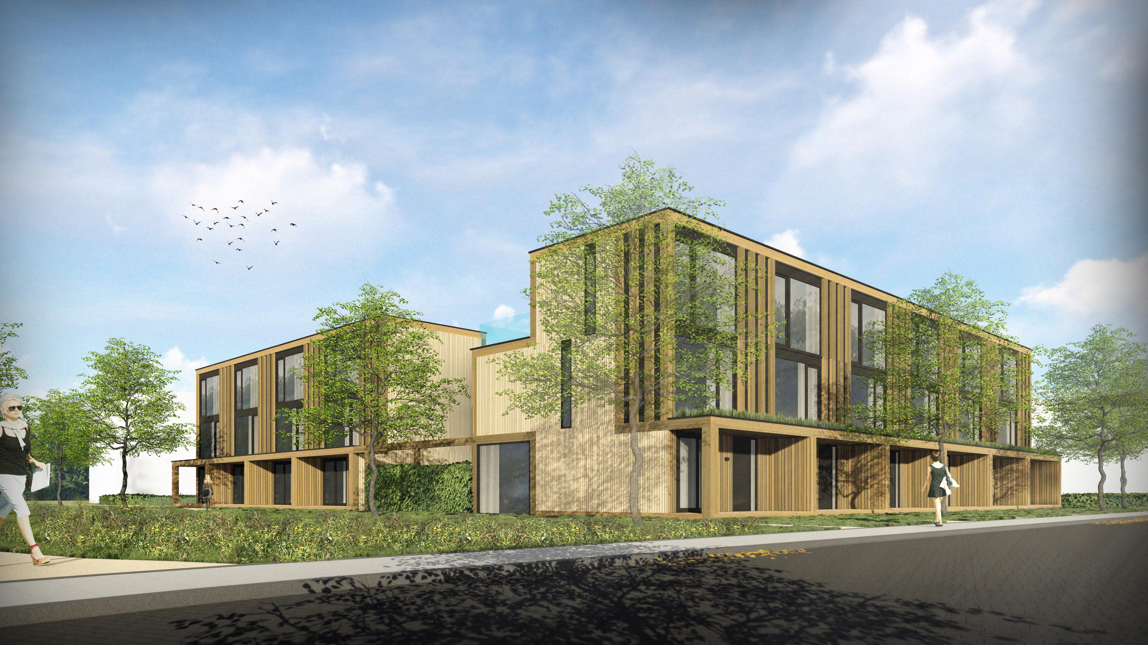 EFY Group mag 14 houtskeletbouwwoningen voor de vrije sector bouwen aan de Alkmaarse Sperwerstraat