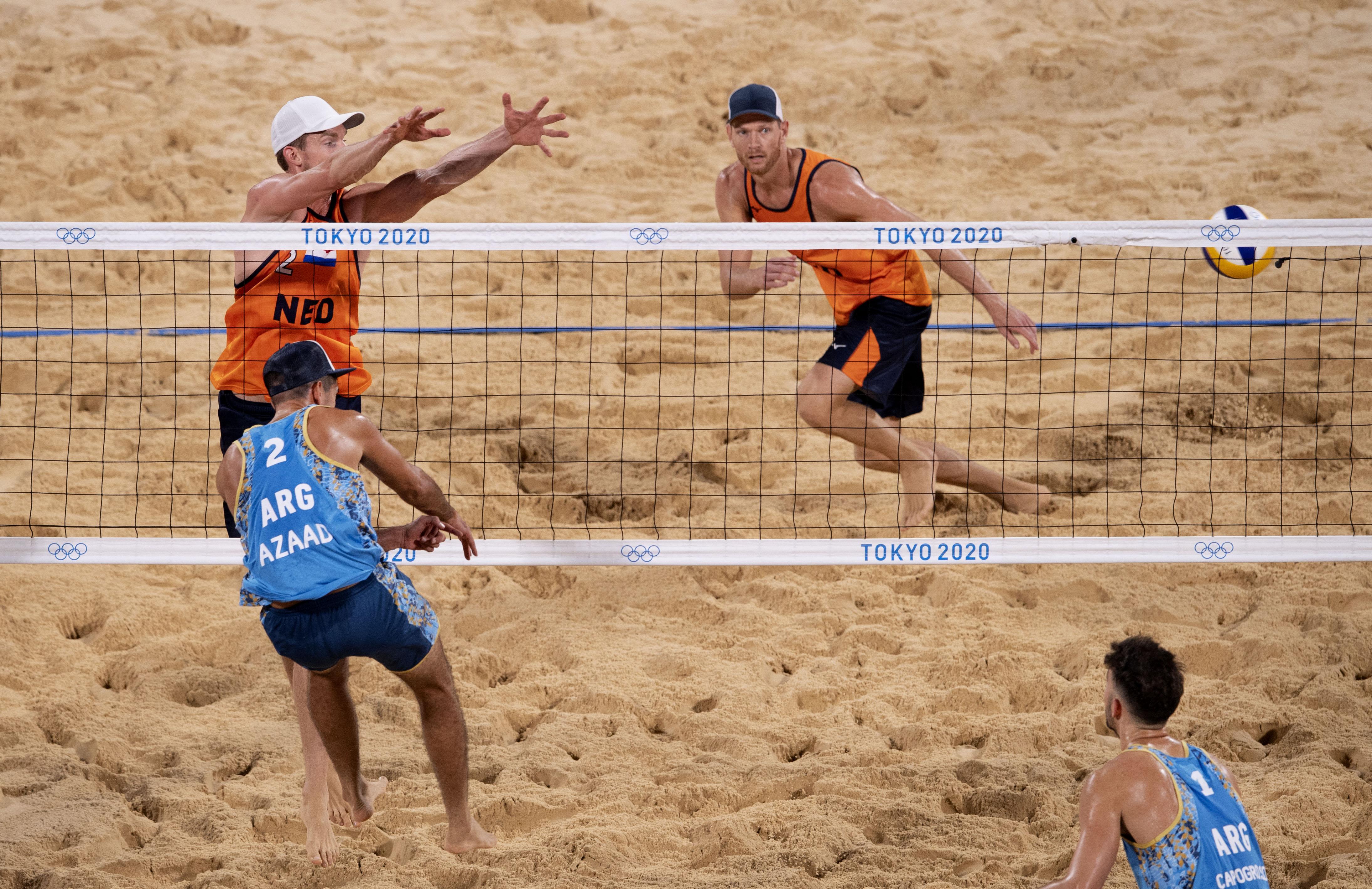 Tweede zege beachvolleyballers Brouwer en Meeuwsen in Tokio